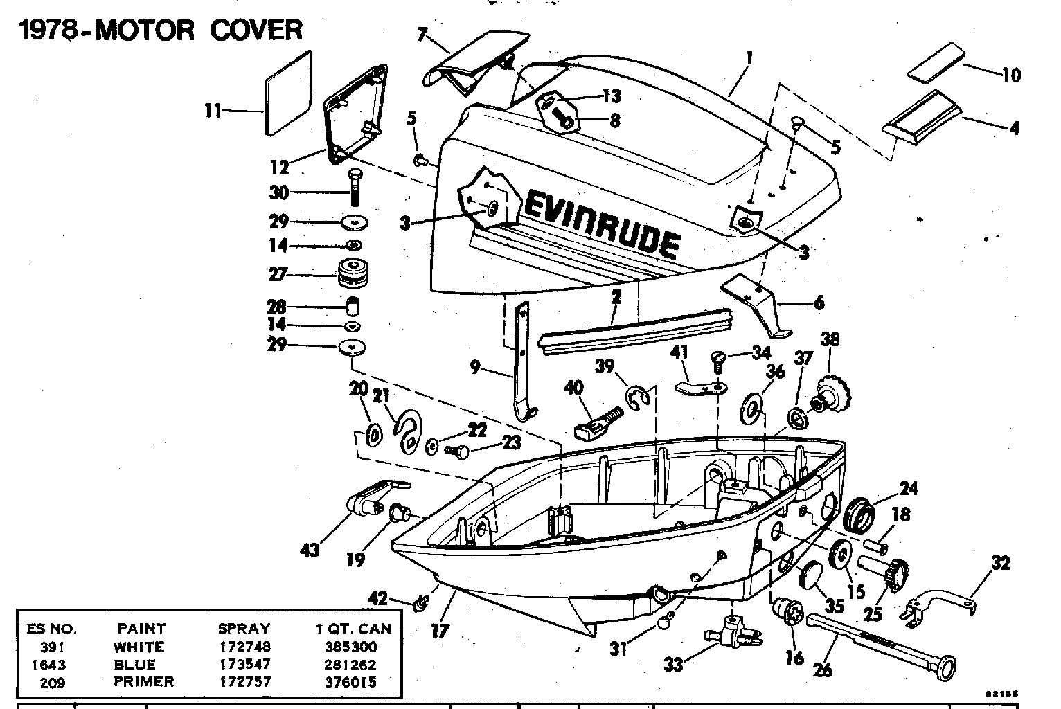 diagram of 1978 85ml78c johnson outboard remote control