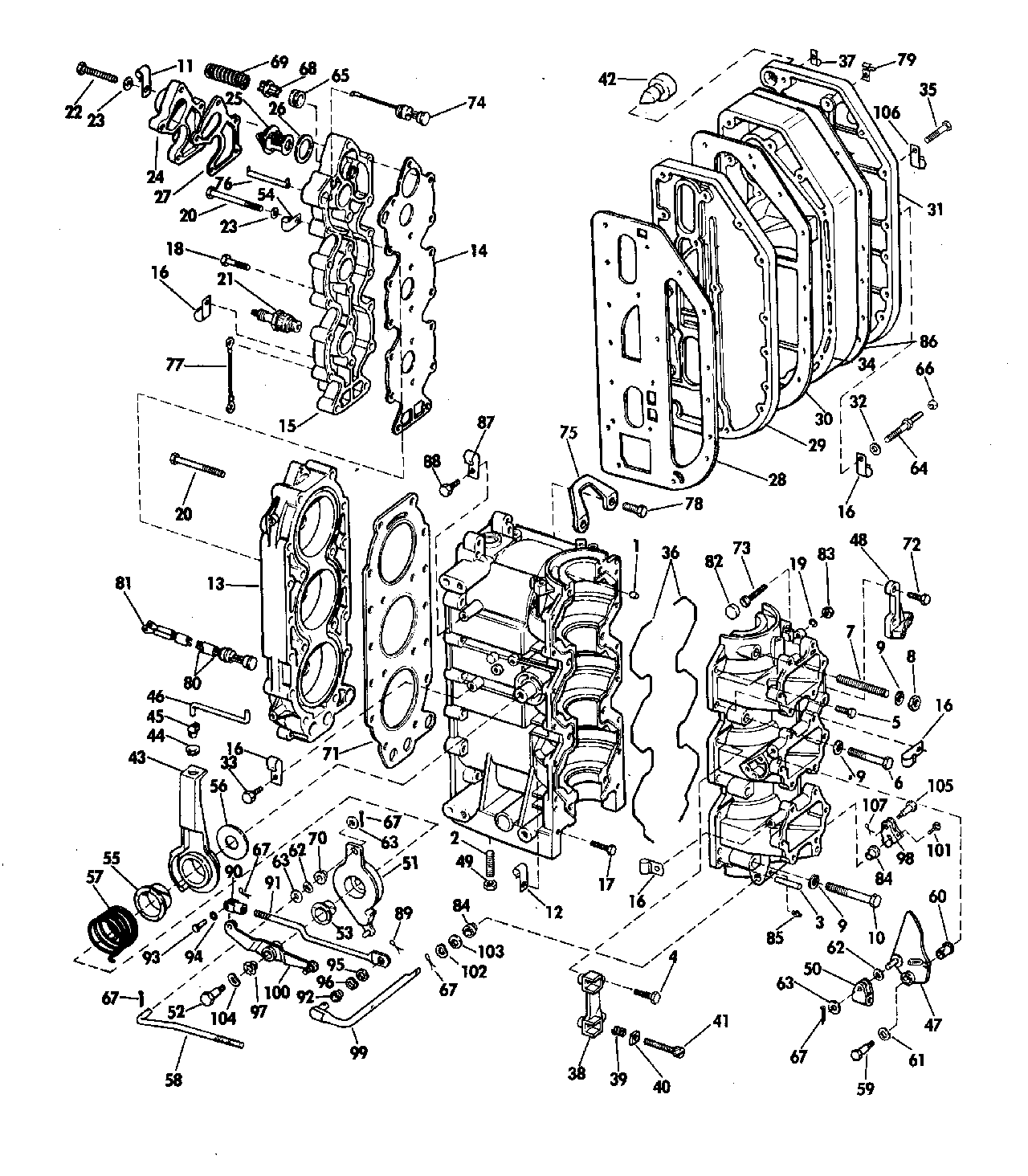 diagram of 1977 70773s evinrude intake manifold diagram