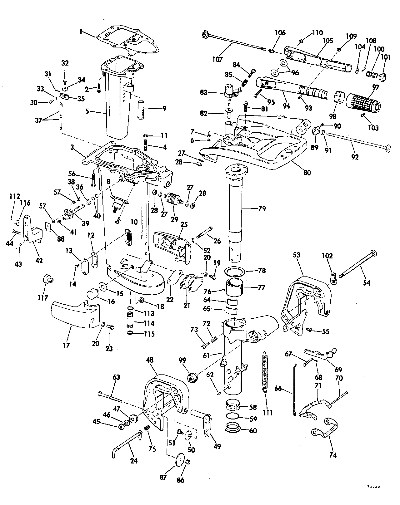 1977 Evinrude 35 Hp Diagram Detailed Schematics Wiring For A 1971 Mercury 115 Brp Johnson En 35el77h Exhaust Housing 25 50