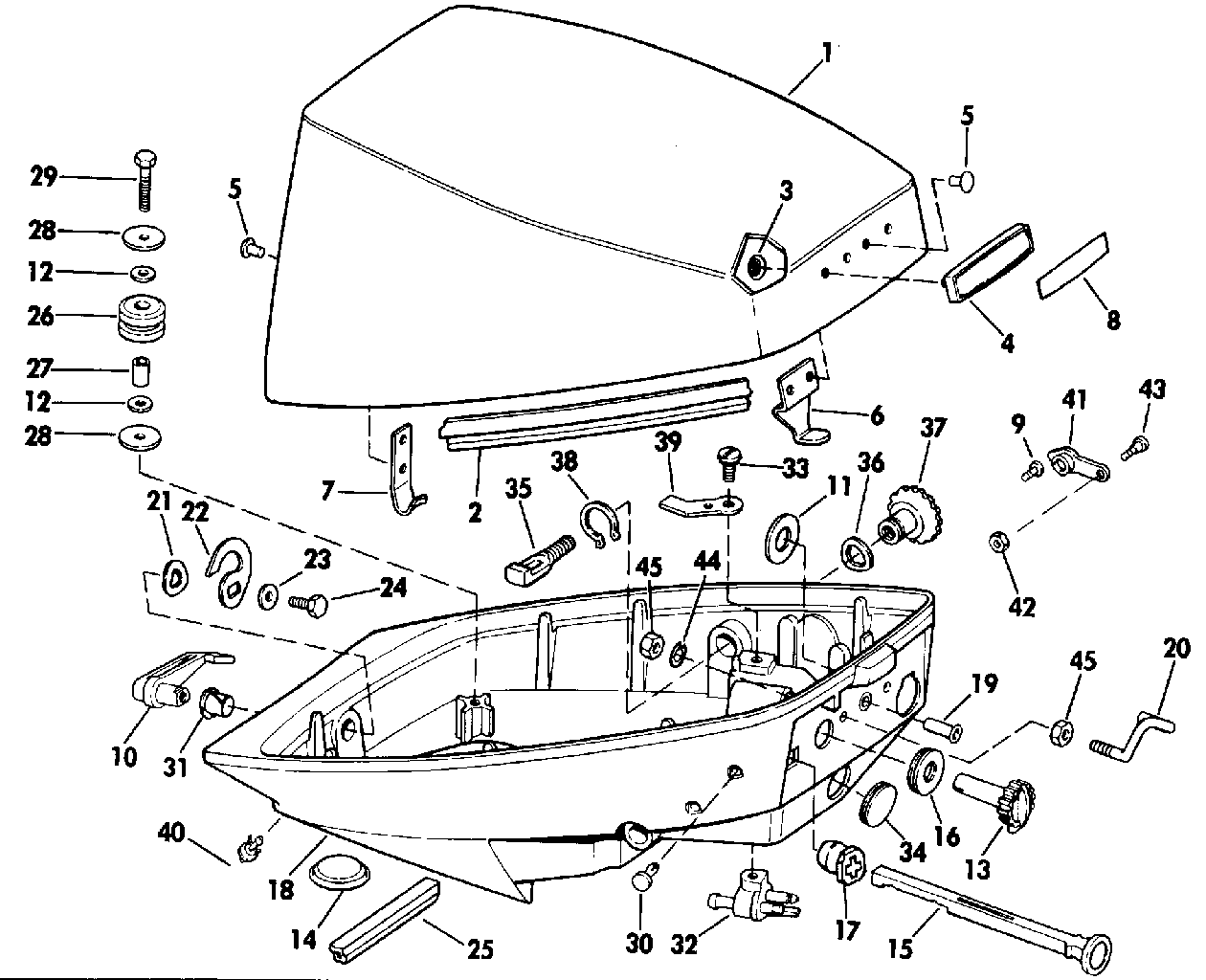 99 Evinrude Motor Lower Unit Diagram Trusted Wiring 9 Hp 84 Parts Circuit Connection U2022 On A 40 Propeller