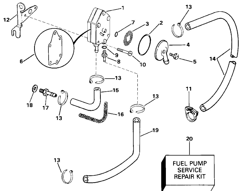 Evinrude Fuel Pump Diagram - Free Wiring Diagram