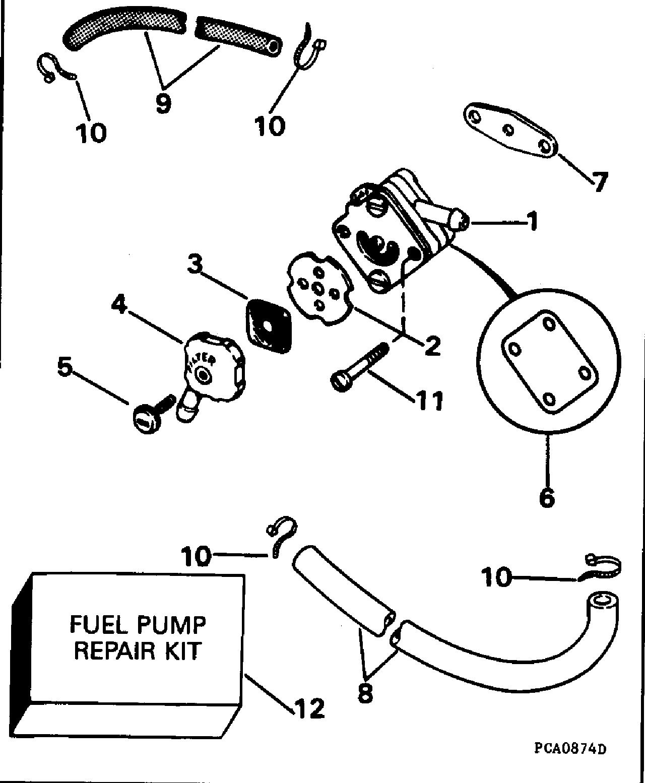 ref, description, qty required, price  1, fuel pump