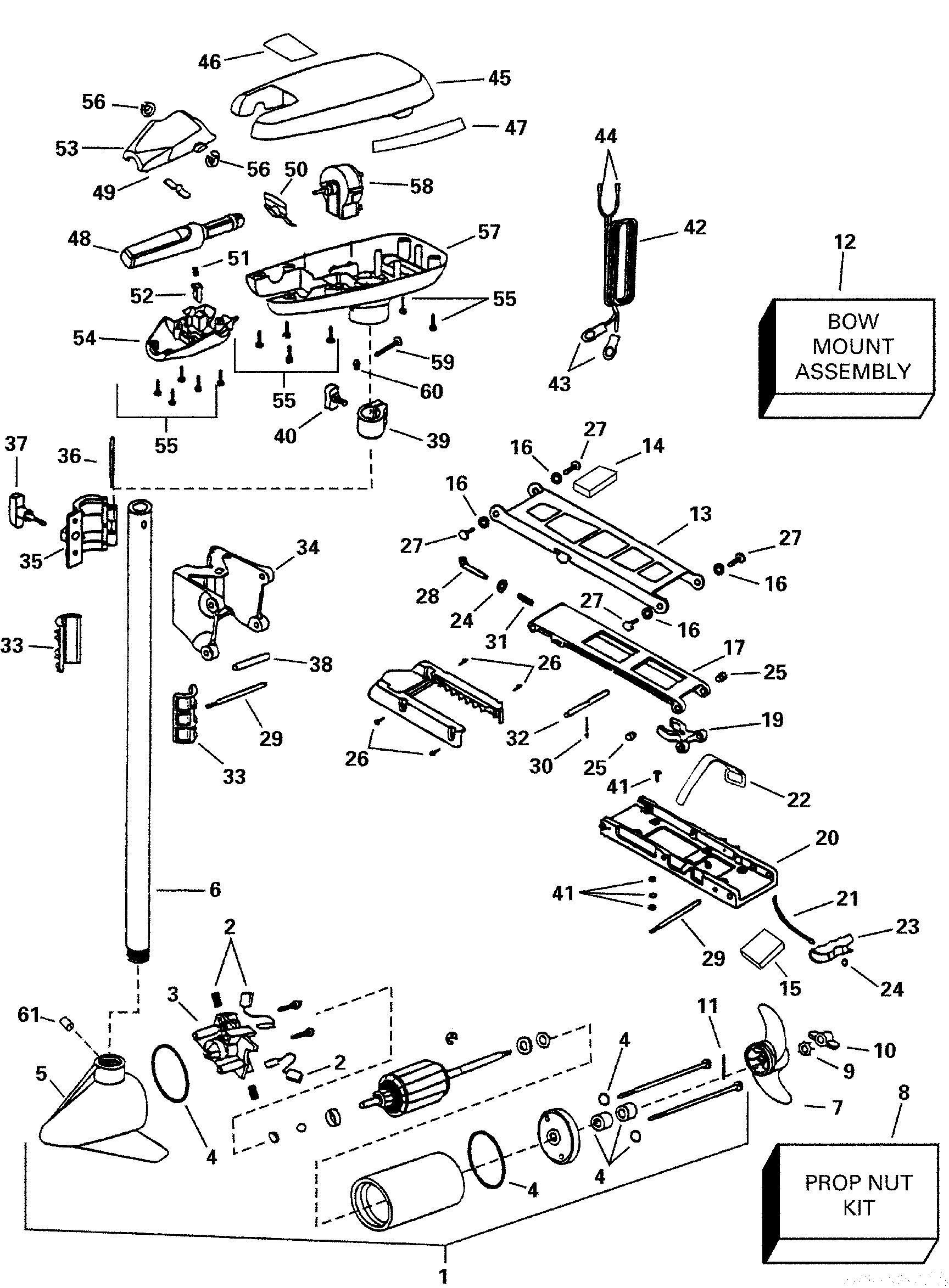 brp evinrude en 2000 12 volt p n 773162 scout 40h 2000 Bradley Motor Diagram ref description qty required price 1 motor assembly