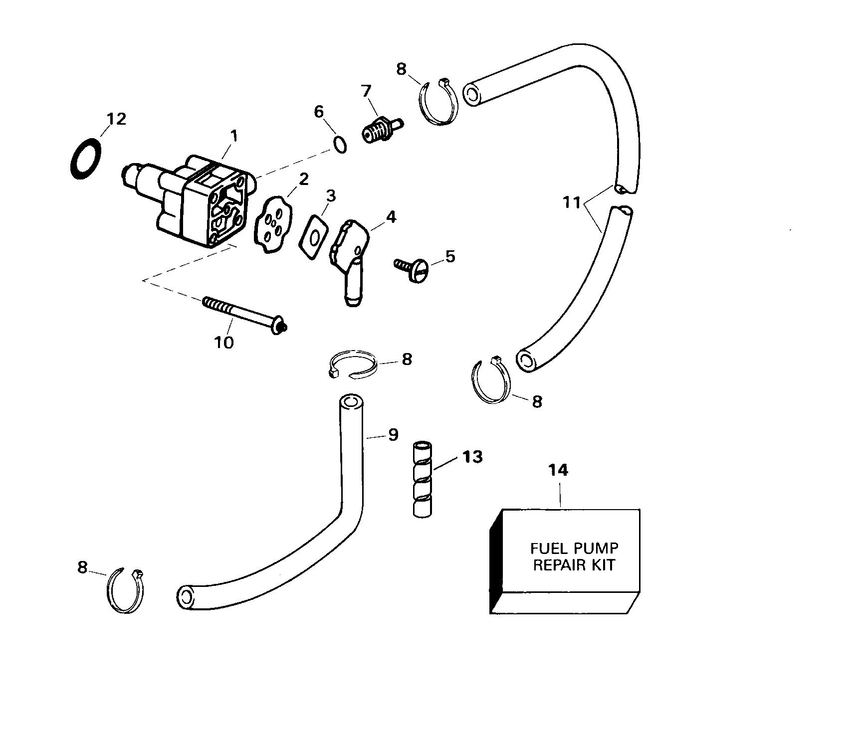 Johnson 15 Fuel Pump Diagram Wiring Schematics 1988 9 Hp Outboard Parts Brp Evinrude En 2000 E15el4sse 4 Stroke Elec Start Seahorse Electrical