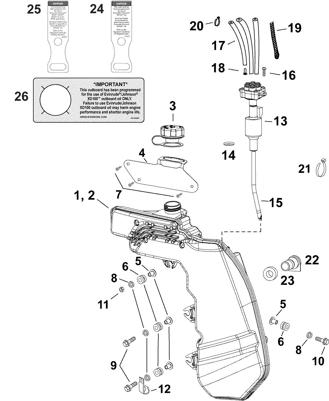 BRP   EVINRUDE - EN   AA Models   75   E75DSLAAA   03-6_OIL