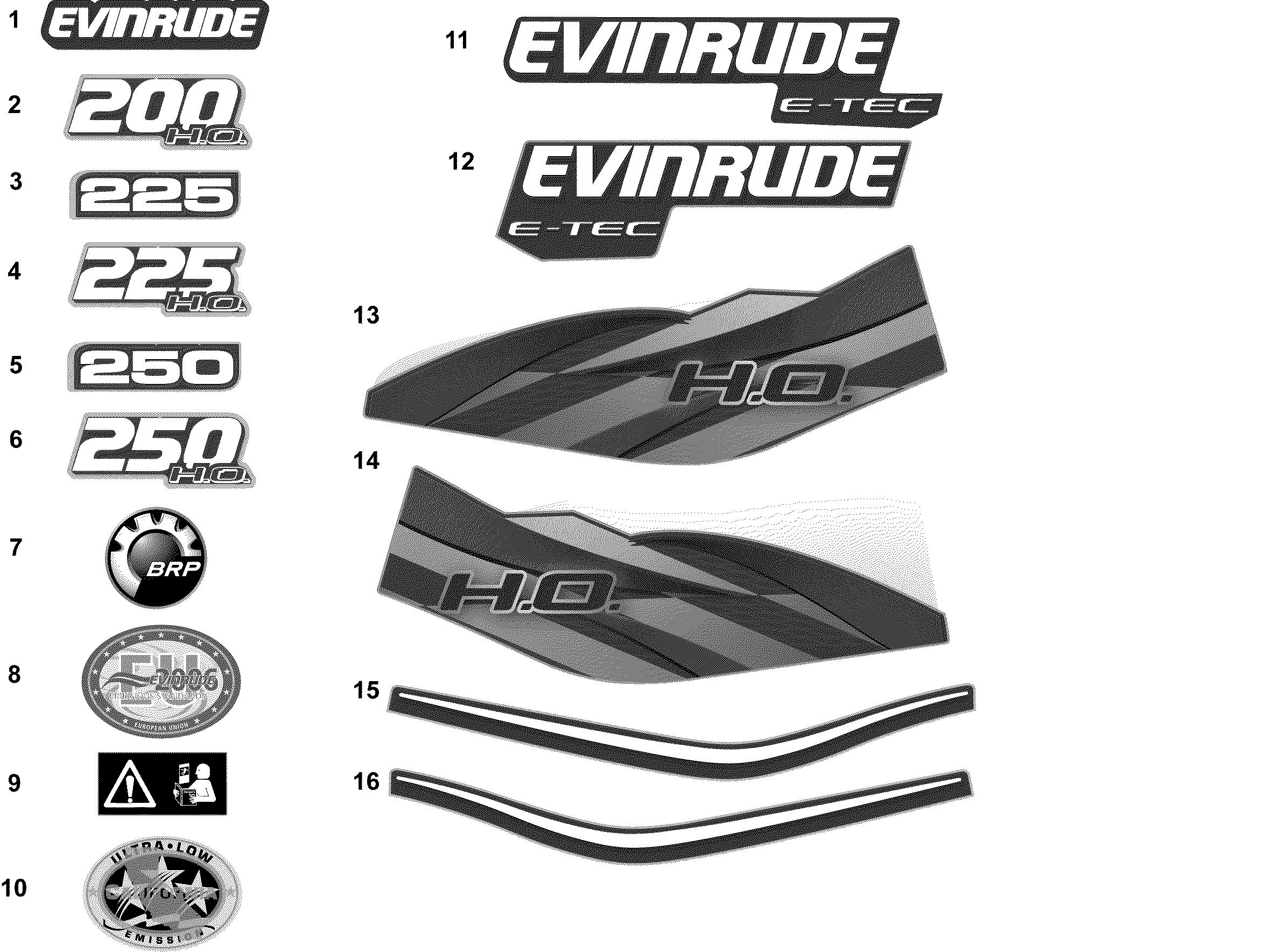 BRP | EVINRUDE - EN | 2012 | 250 H O  - (90° V6, 3 4 L