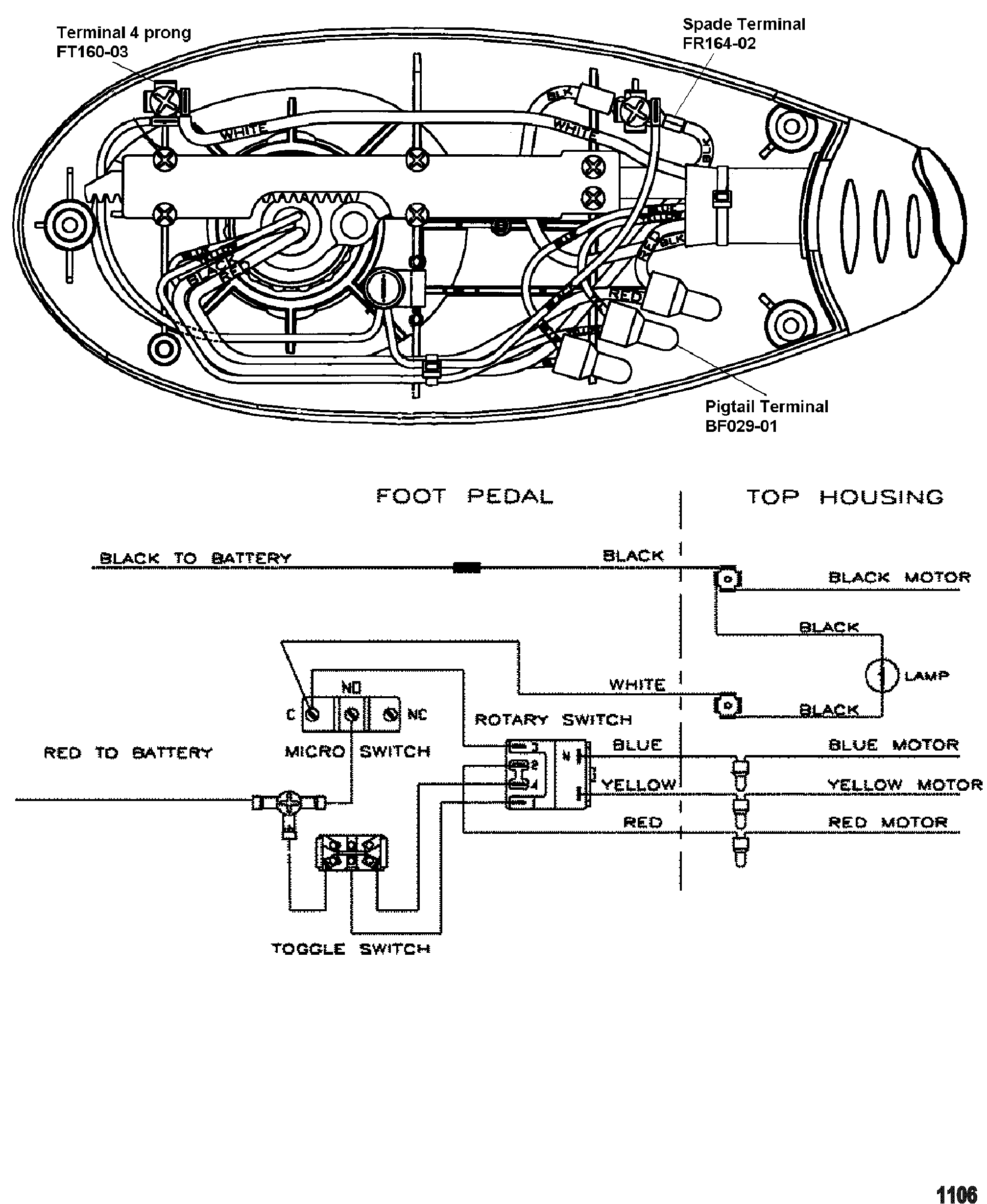 Trolling Motor Battery Wiring Diagram Mercury Motorguide Energy Series All Up Wire Diagrammodel Ef54 12 Volt