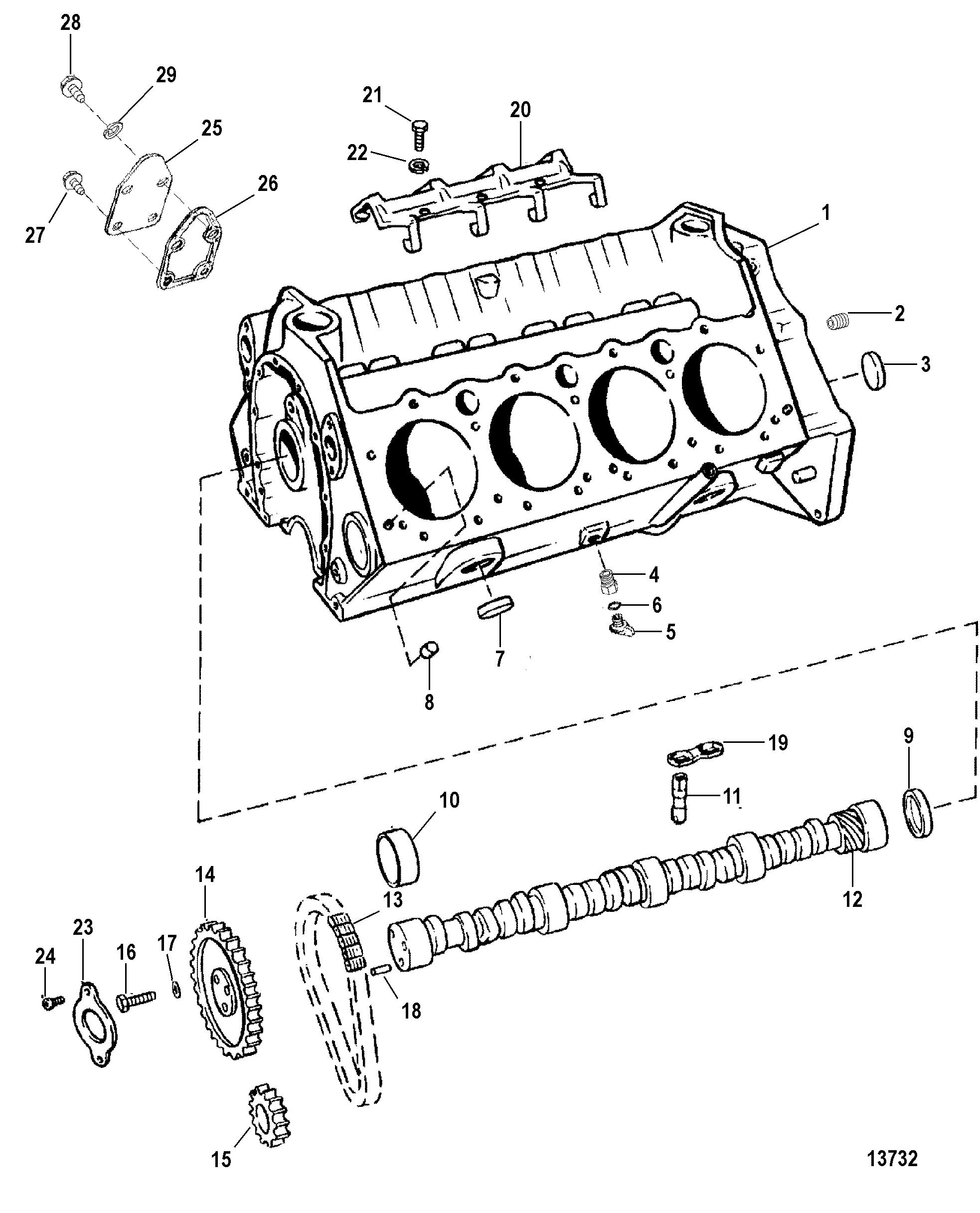 5.7L EFI (2 BBL.-TBI) GM 350 V-8