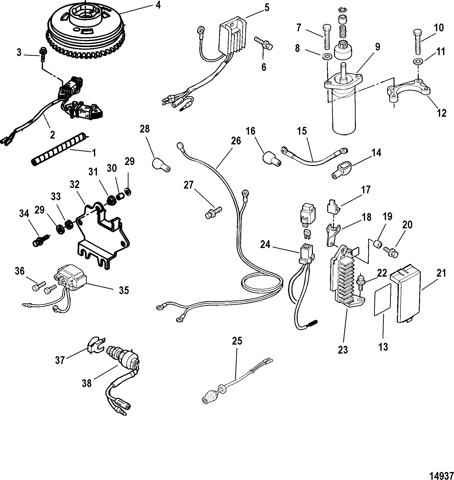 mariner outboard engine wiring diagram mercury mariner 9 9  4 stroke  209cc  0r042475   up  mercury mariner 9 9  4 stroke