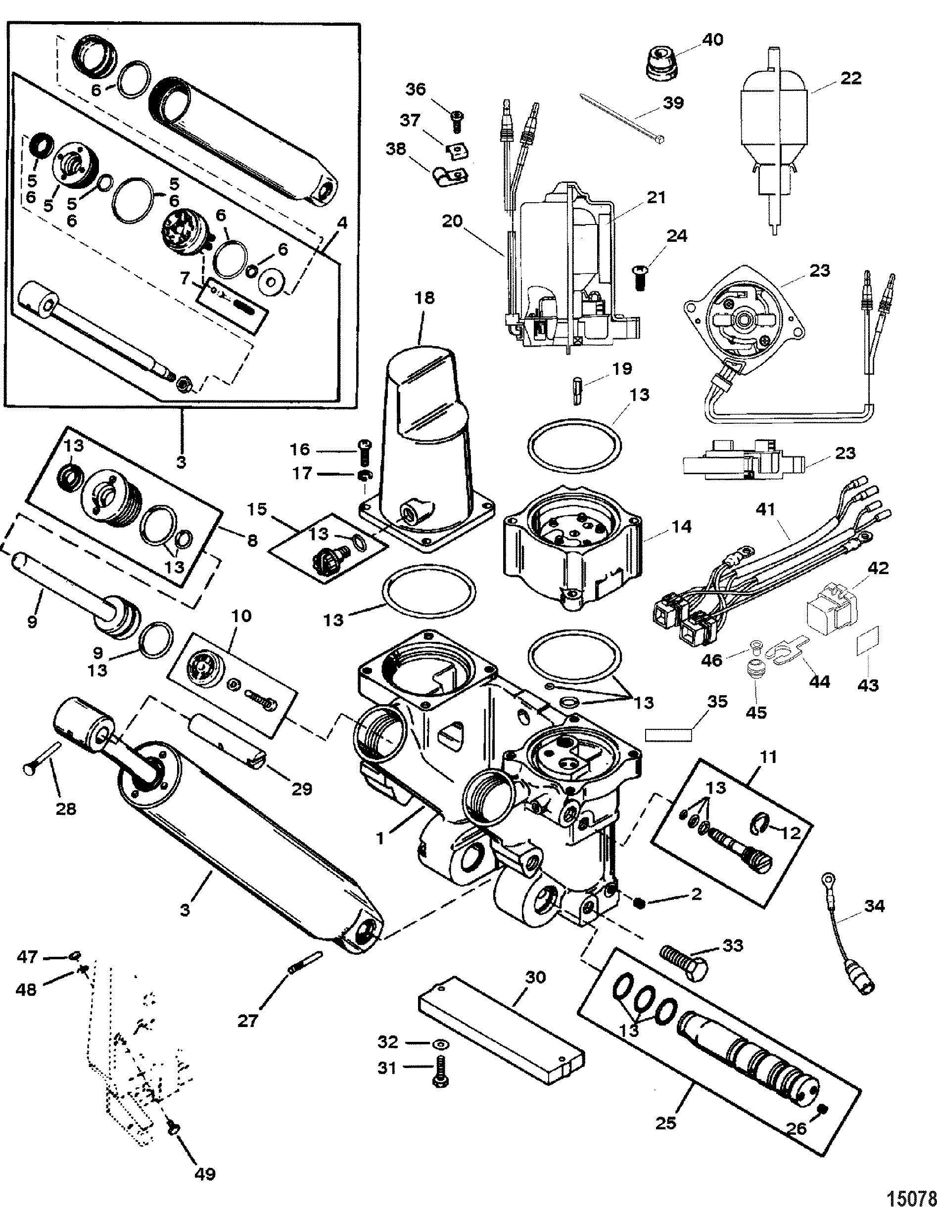 mercury accessories trim tilt lift systems and components rh vansoutboardparts com