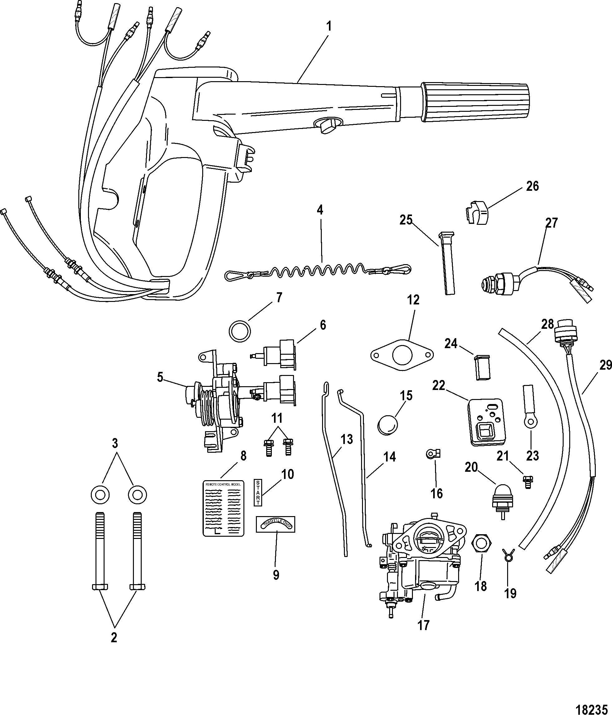 Mercury | MARINER | 9 9 (4-STROKE)(209cc) | 0P325500 & Up