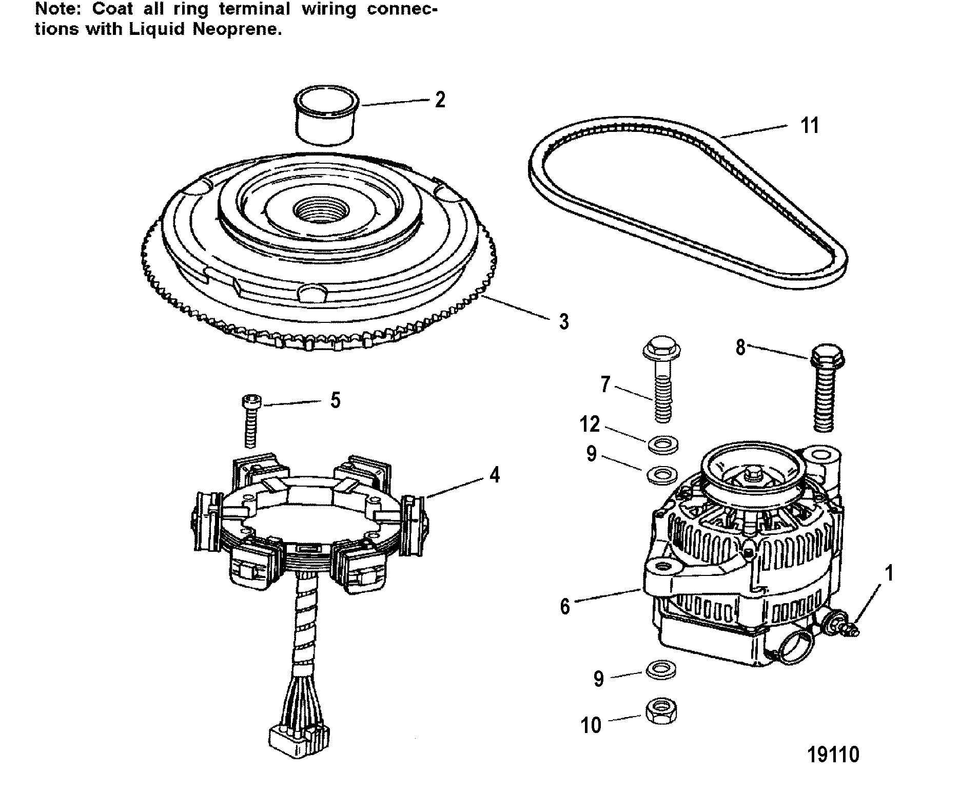 mercury mariner stator wiring diagram