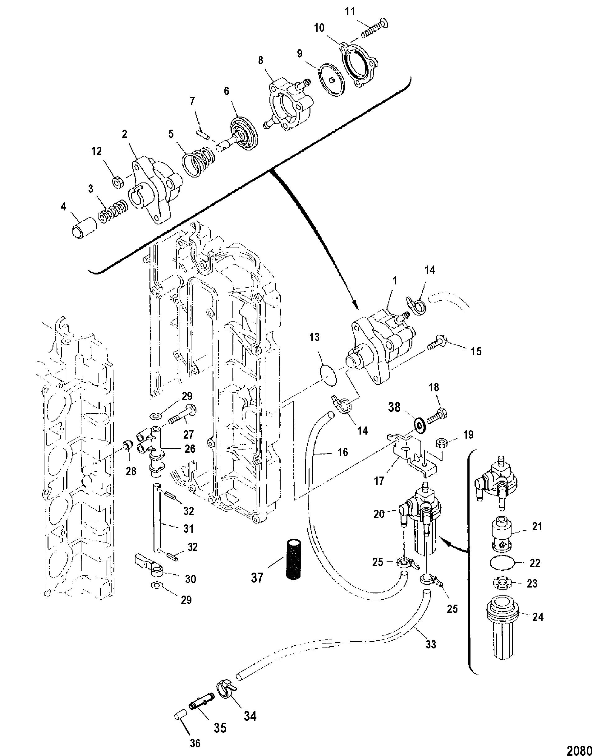 Mercury | Fuel Pump(Serial Number 0T409000 & Up)