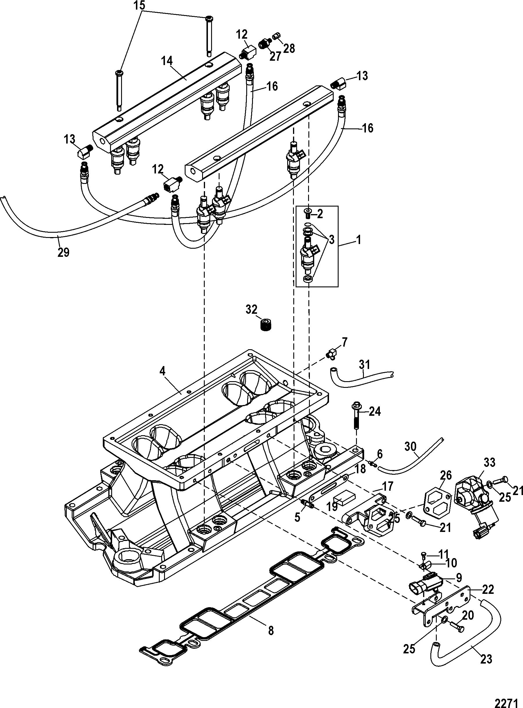 Mercruiser Scorpion 350 Engine Diagram Electrical Wiring Diagrams Mercury 0w698433 Up Intake 90 Gmc Schematic