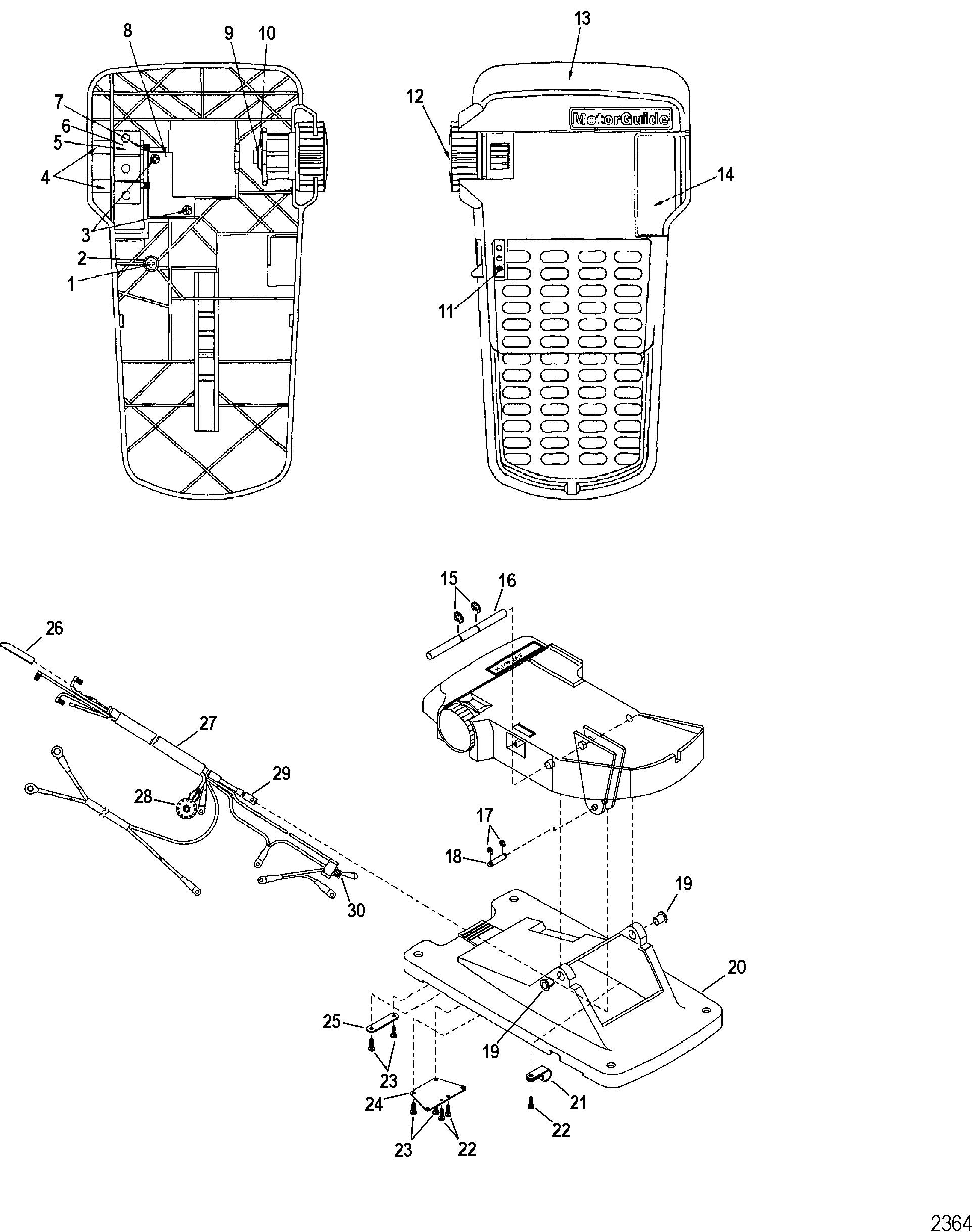 trolling motor foot pedel wiring diagram
