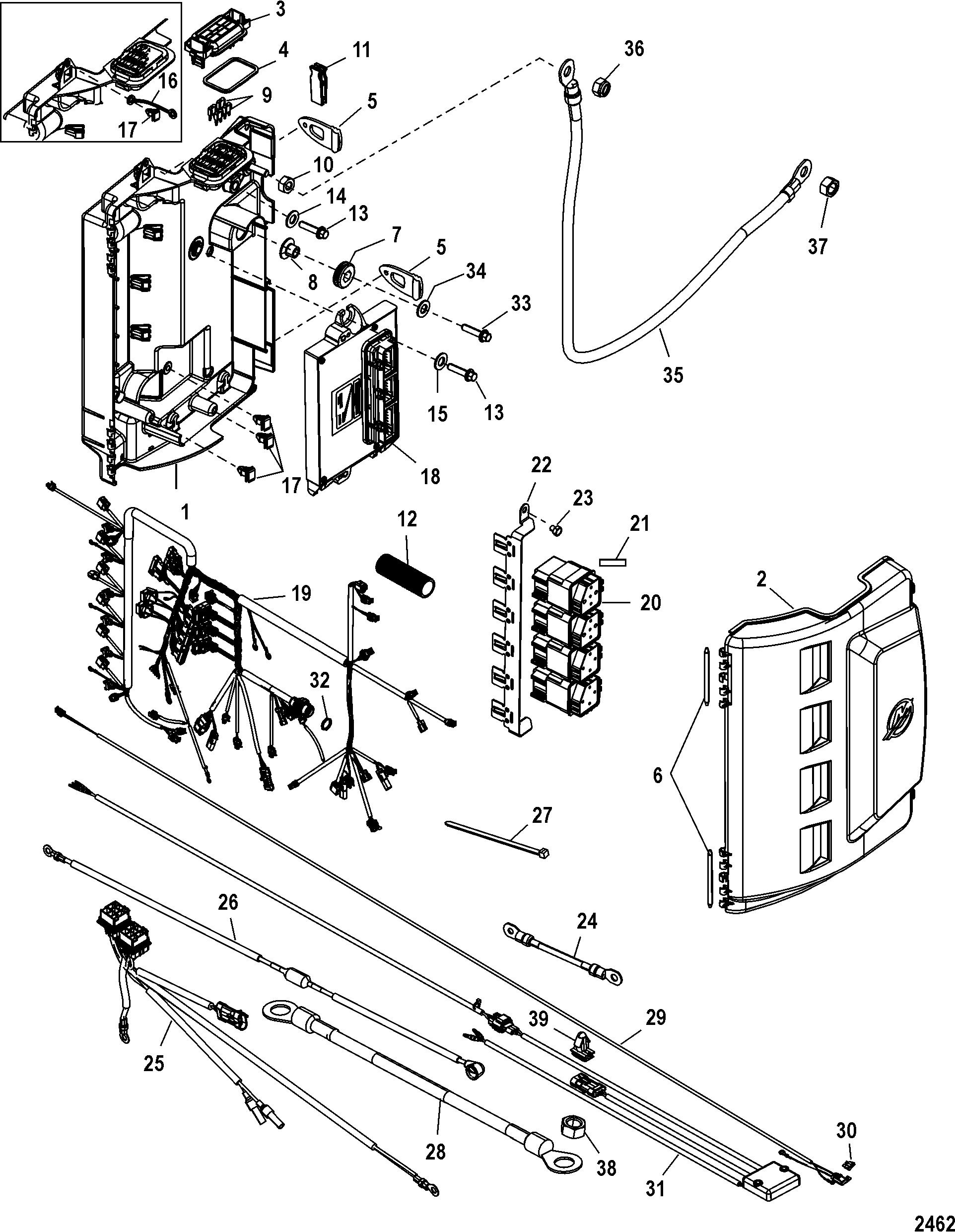 Mercury | MERCURY | 250 VERADO (4-STROKE)(6 CYL.) | 0T980000 THRU 1B226999  | Electrical Box Components - Mercury Outboard Motor Parts - Van's Sport  CenterVan's Sport Center