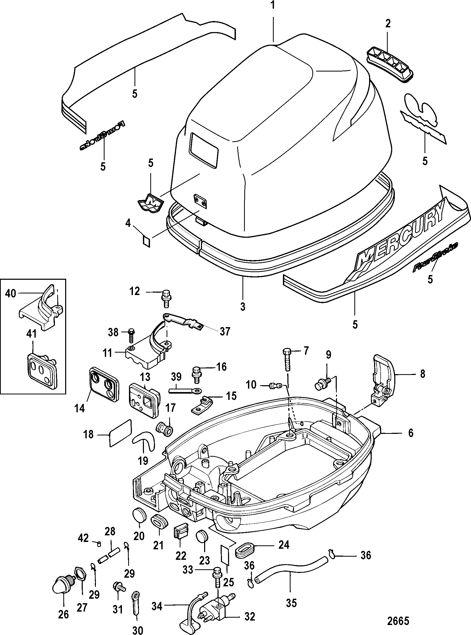 on 40 Hp Johnson Outboard Parts Diagram