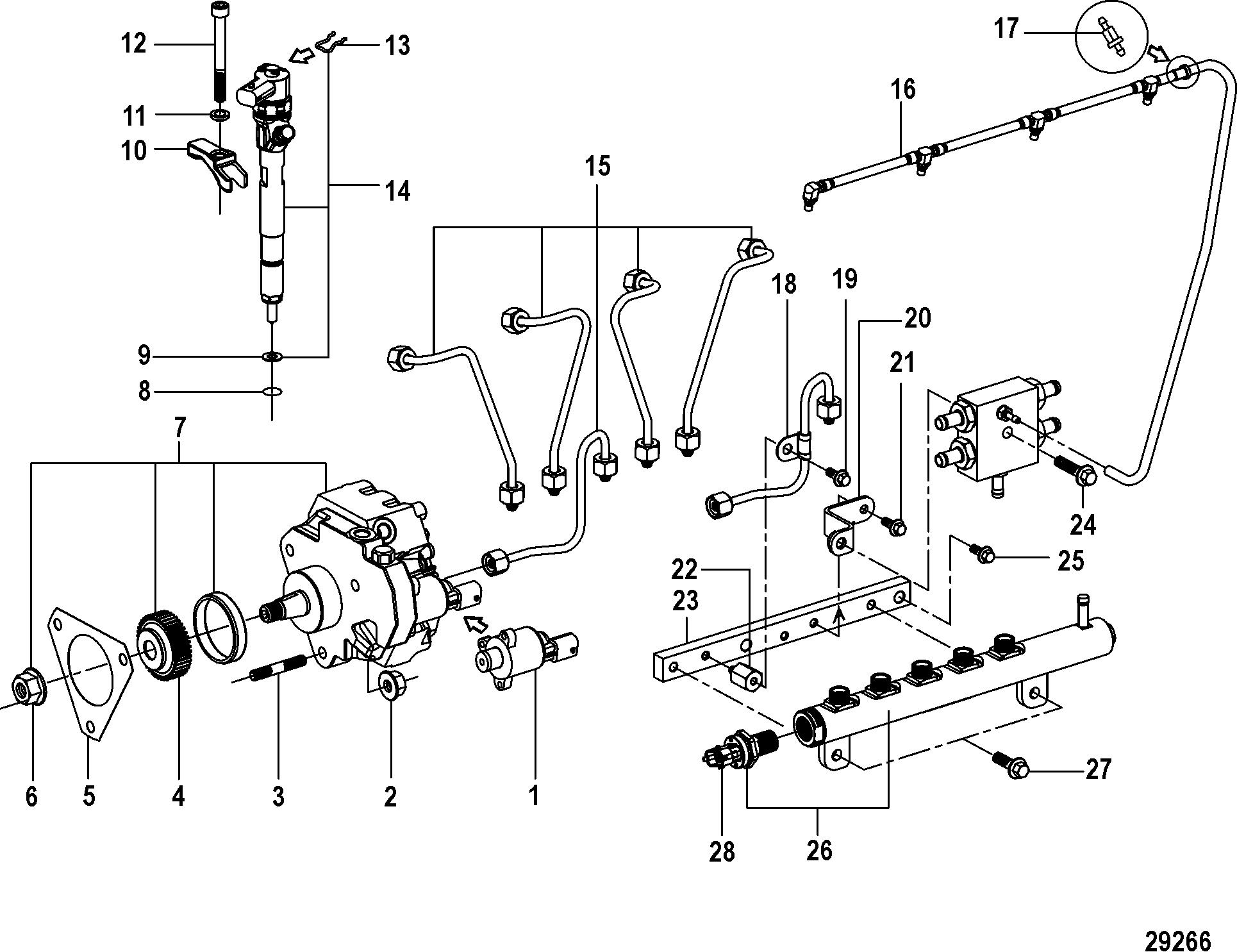 Mercury Mercruiser Cmd Qsd 28 Ei 220 88300000 Up Fuel Pump Diagram System
