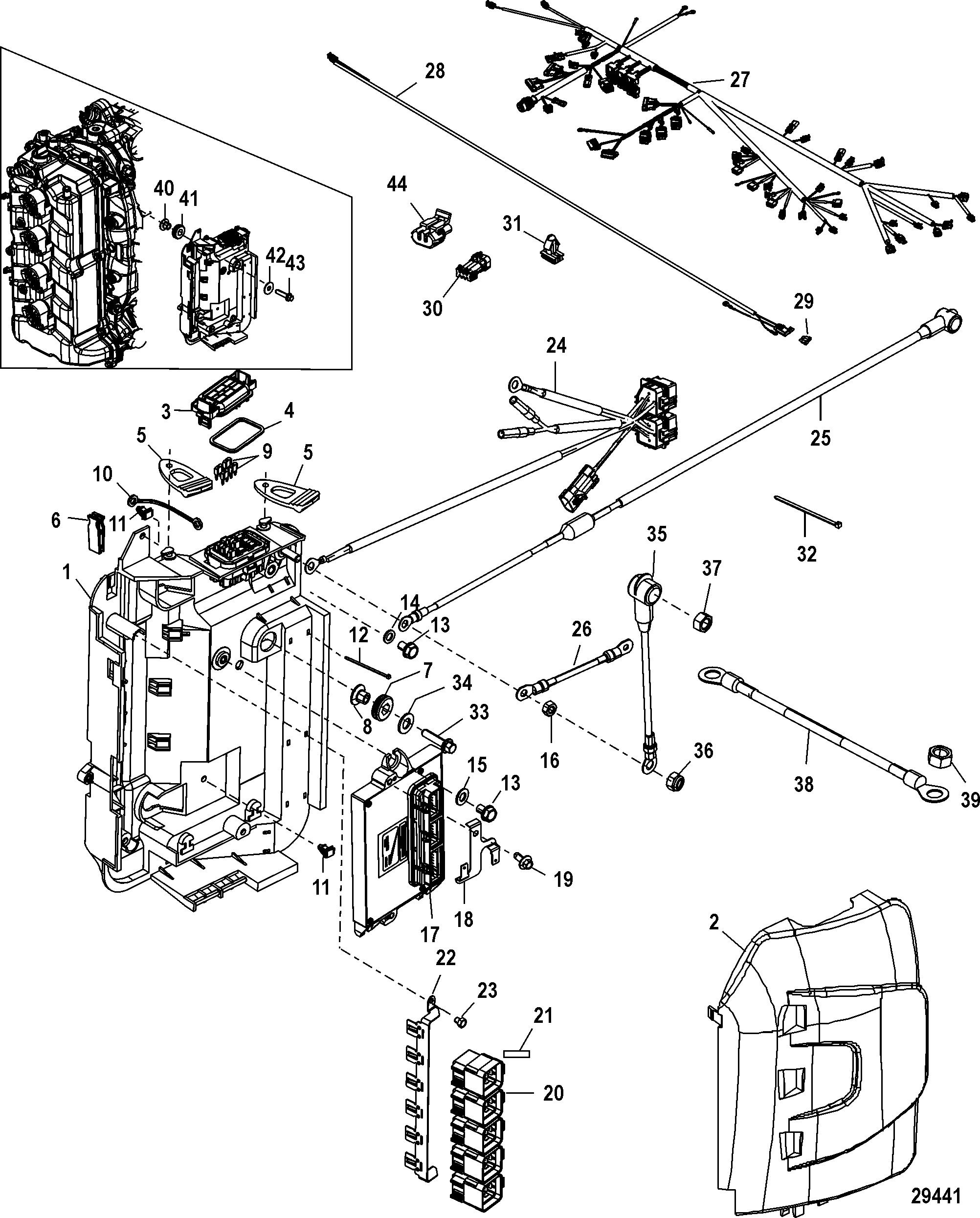 Mercury | MARINER | 175 VERADO (4-STROKE)(4 CYL.) | 1B517159 & Up |  Electrical Box Components
