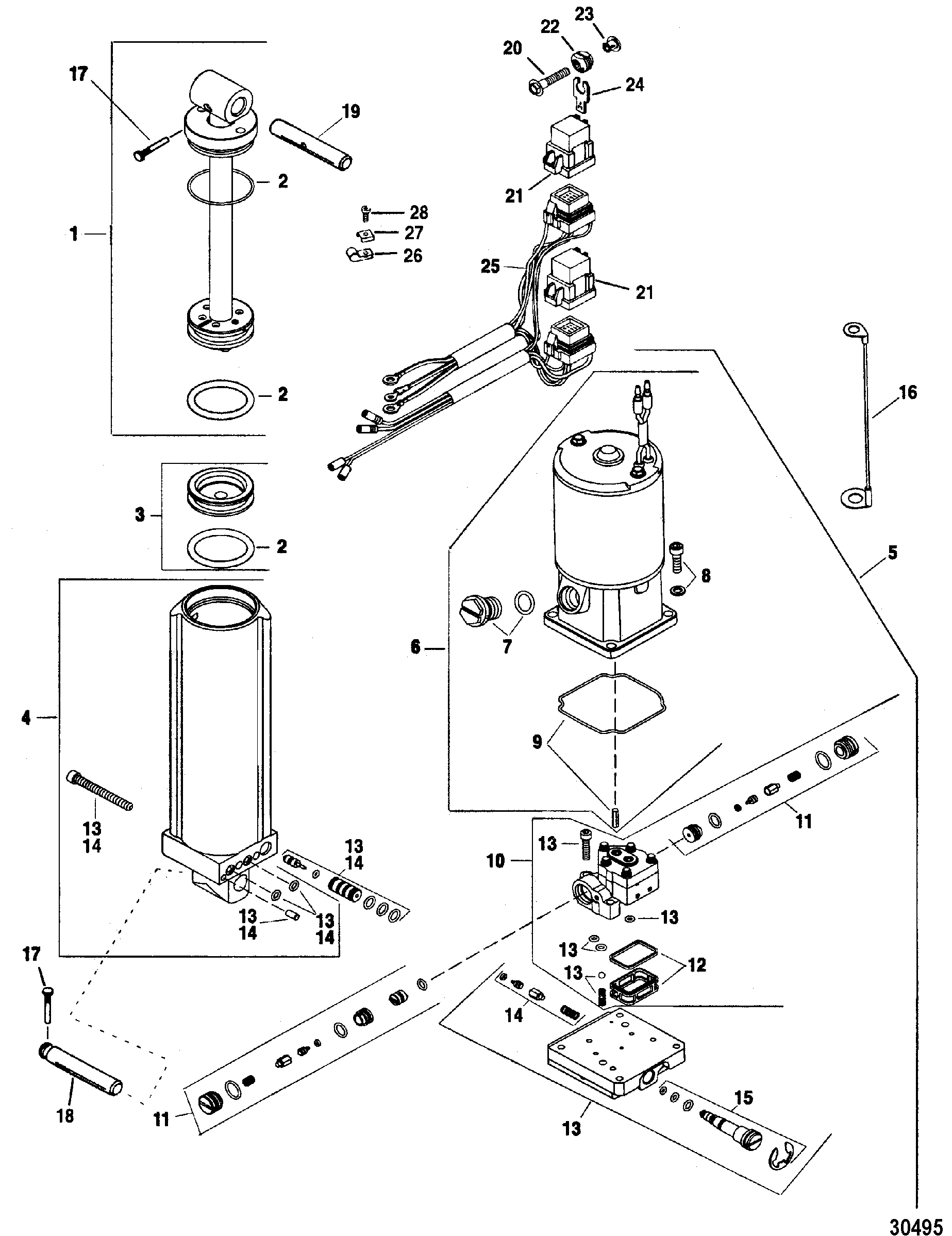 Cable 85 Force Outboard Diagram Trusted Wiring Diagrams Common Motor Trim And Tilt System Pump Data U2022