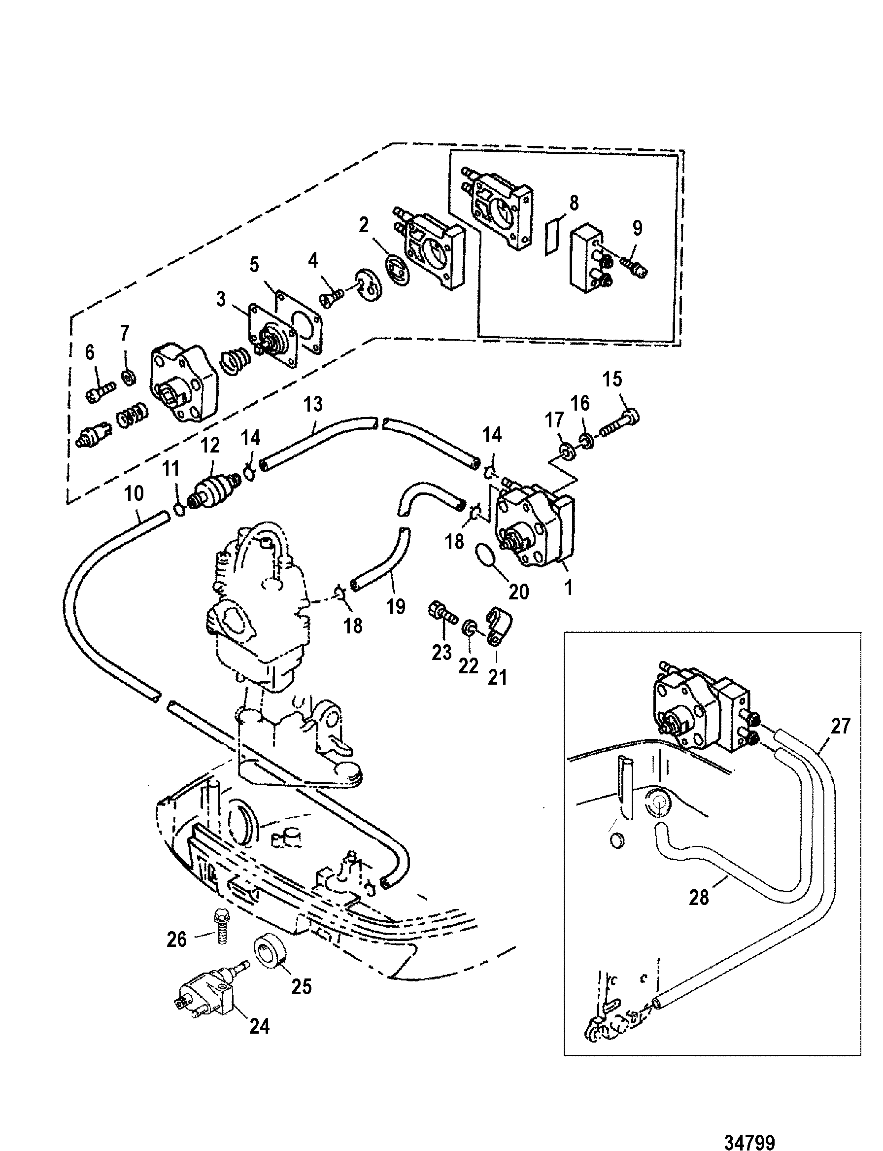 2 5 mercruiser alpha one parts diagram