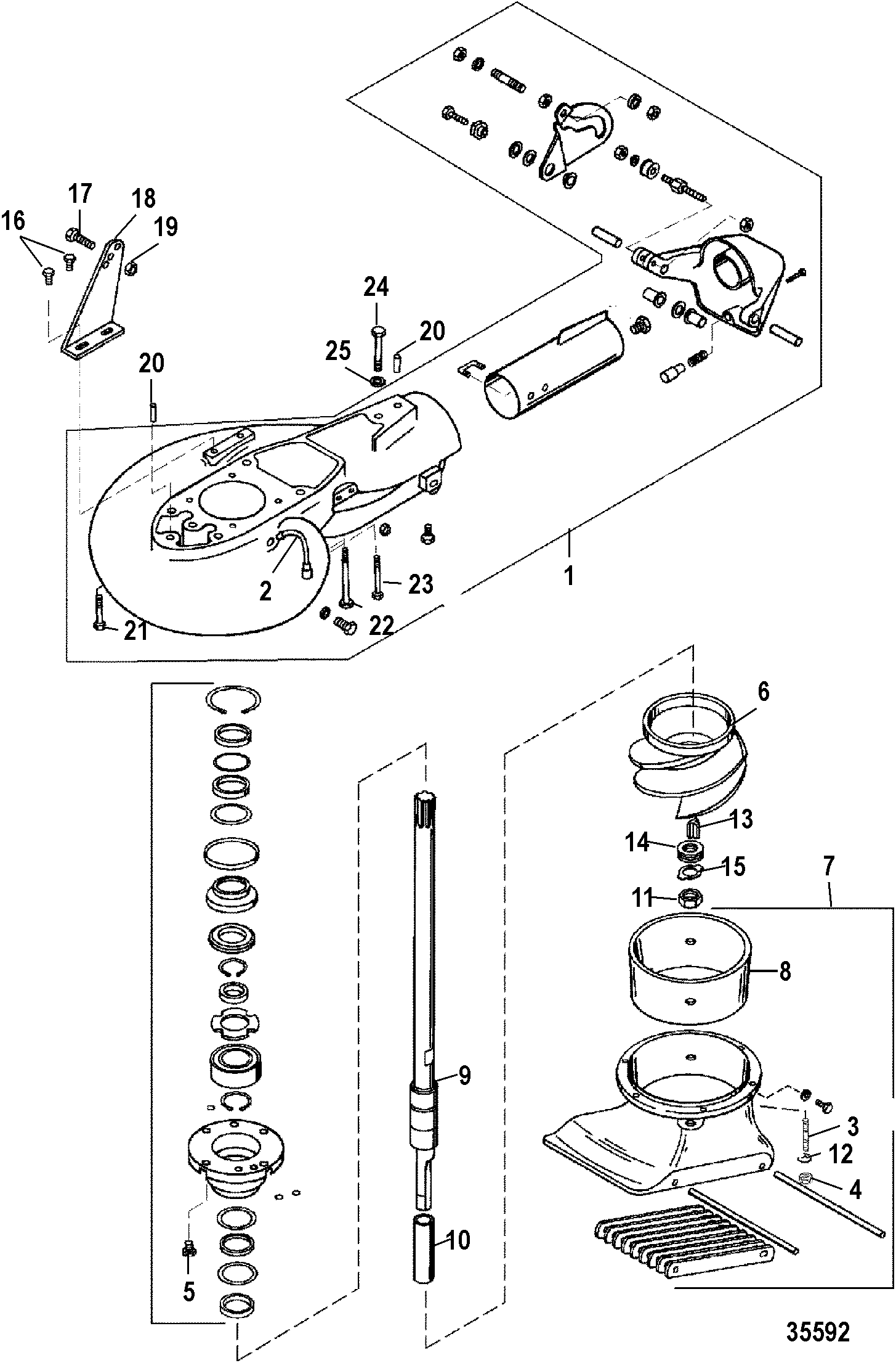 Mercury | Jet Pump Assembly - Mercury Outboard Motor Parts - Van's