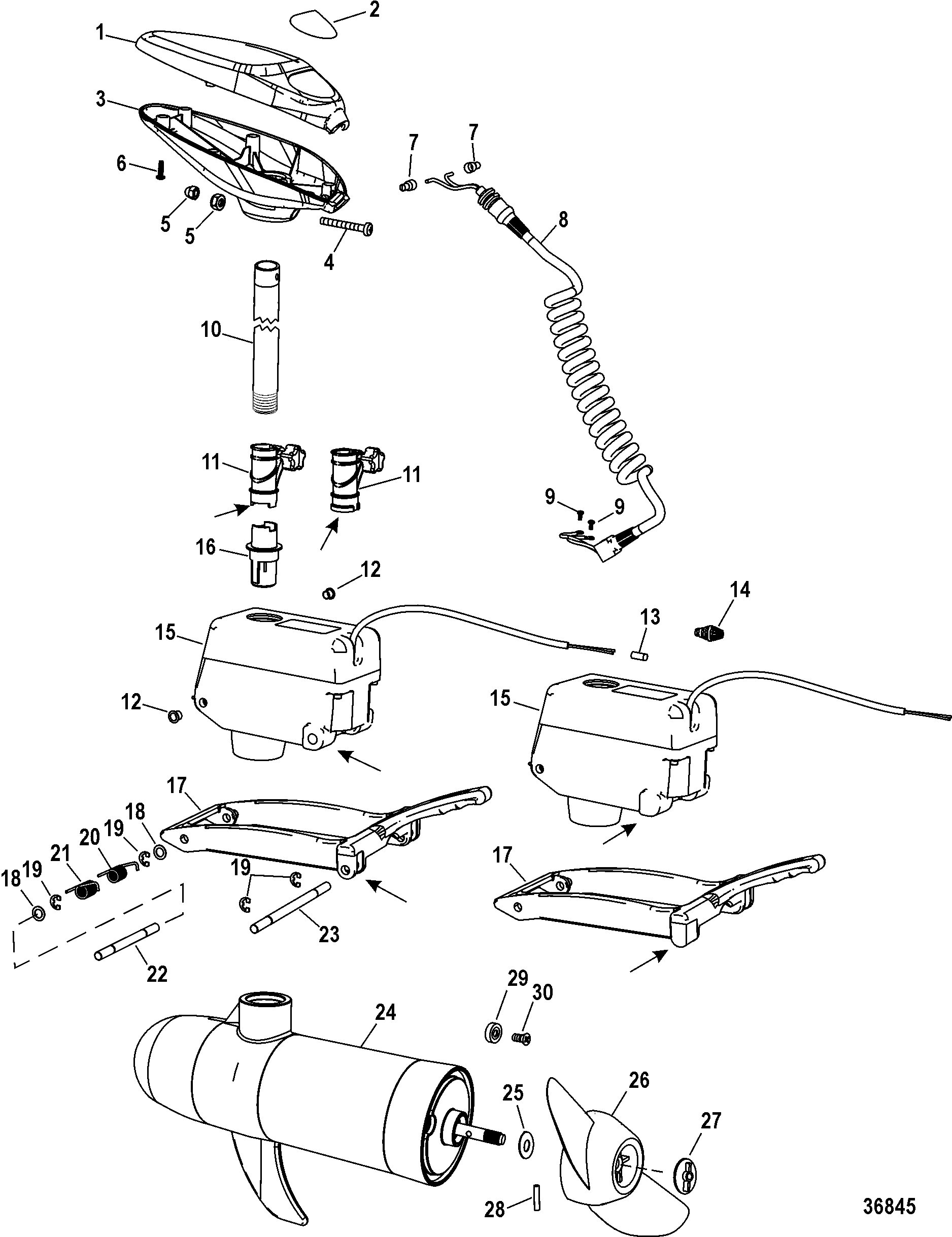 Mercury | TROLLING MOTOR | MotorGuide Wireless Series | 9B920032