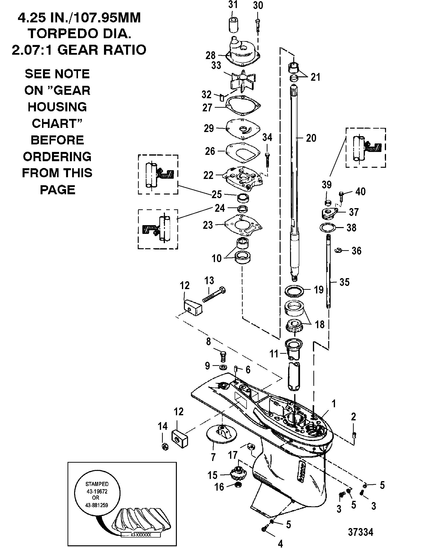volvo water pump repair kit
