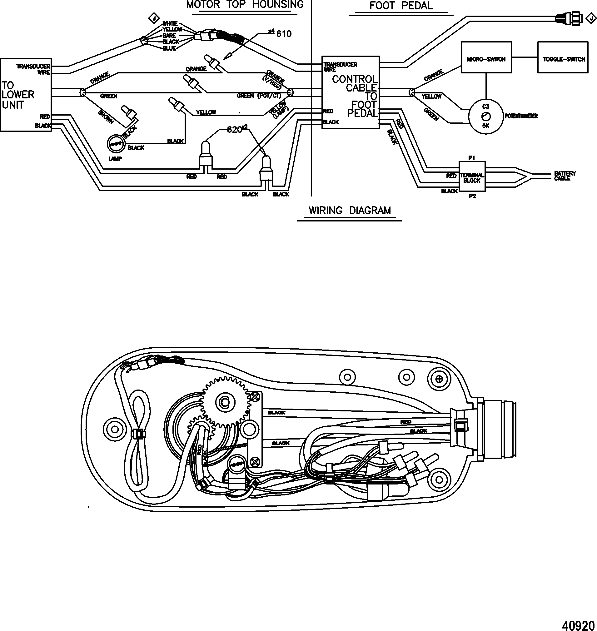 mercury trolling motor motorguide tour lowerance digital series on 24 volt battery system wiring diagram mercury trolling motor motorguide tour lowerance digital series 9b000001 & up wire diagram(tr70lfbd) (tr82lfbd) (24 volt)