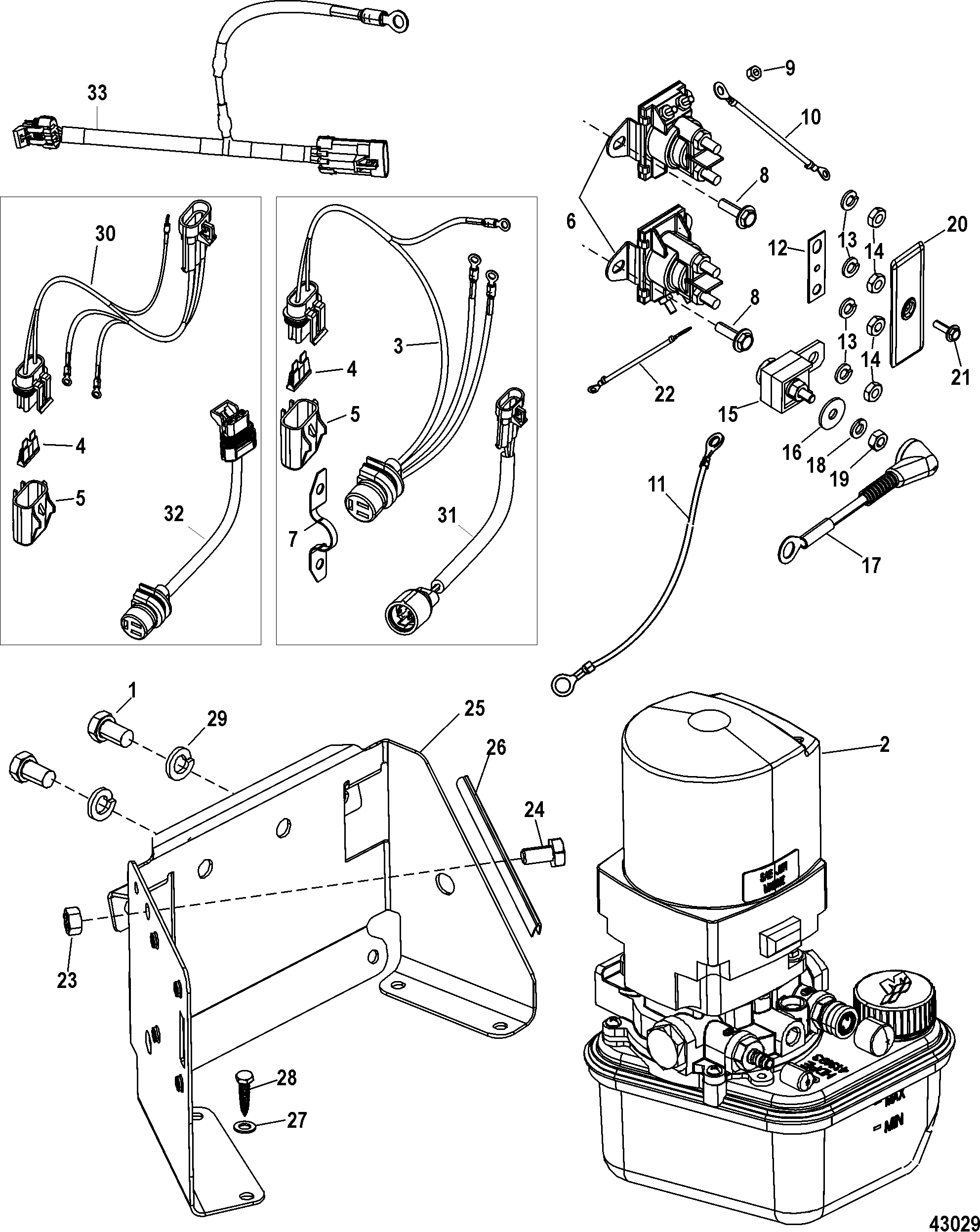 Mercury Trim Pump Diagram Manual Guide Wiring Mercruiser Tilt Integrated Transom 0m052768 Up Rh Vansoutboardparts Com Parts