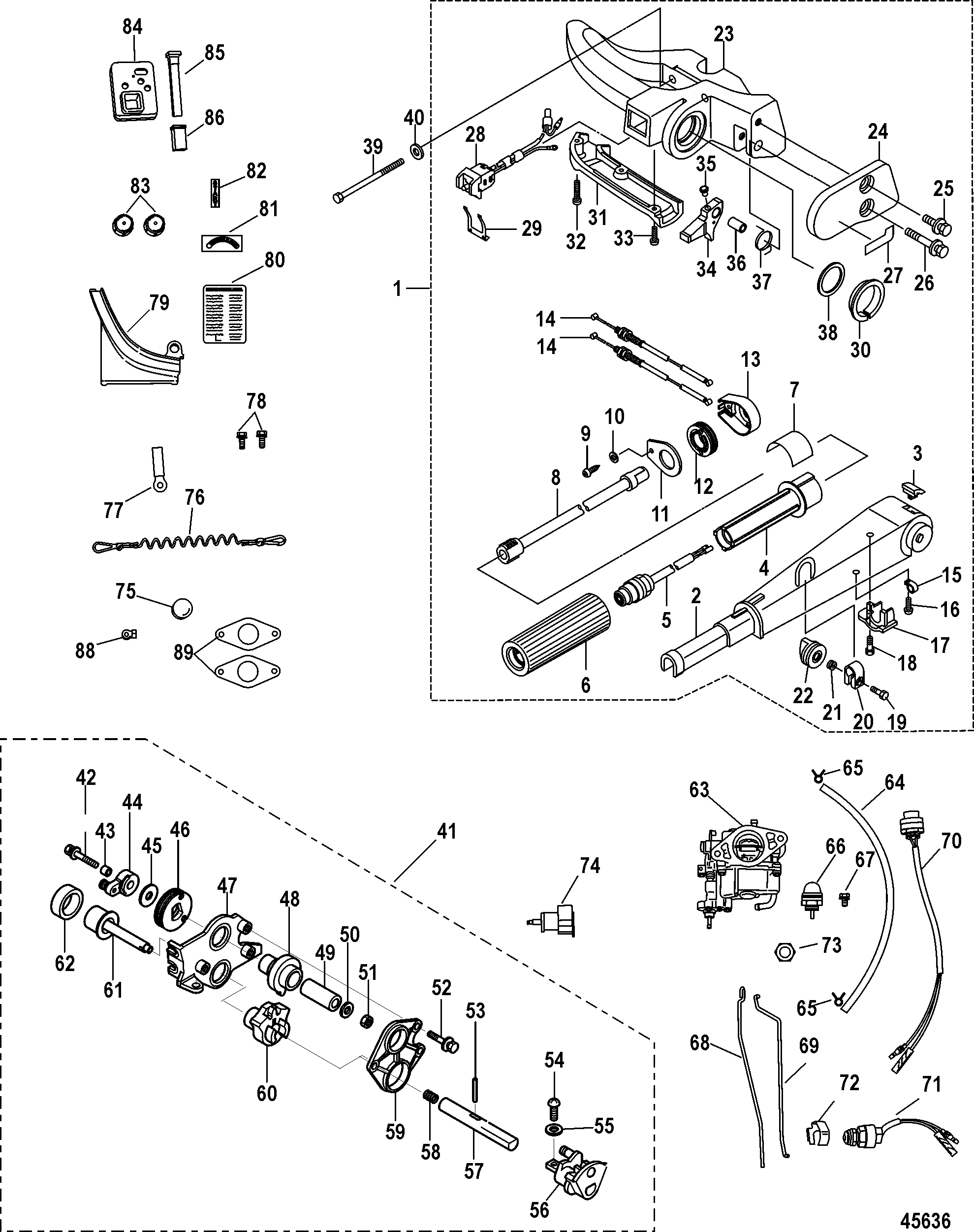 Mercury 9 8 7127388 Up Electric Components Outboard Stroke209cc 0r042475 Carburetor Diagram And 4