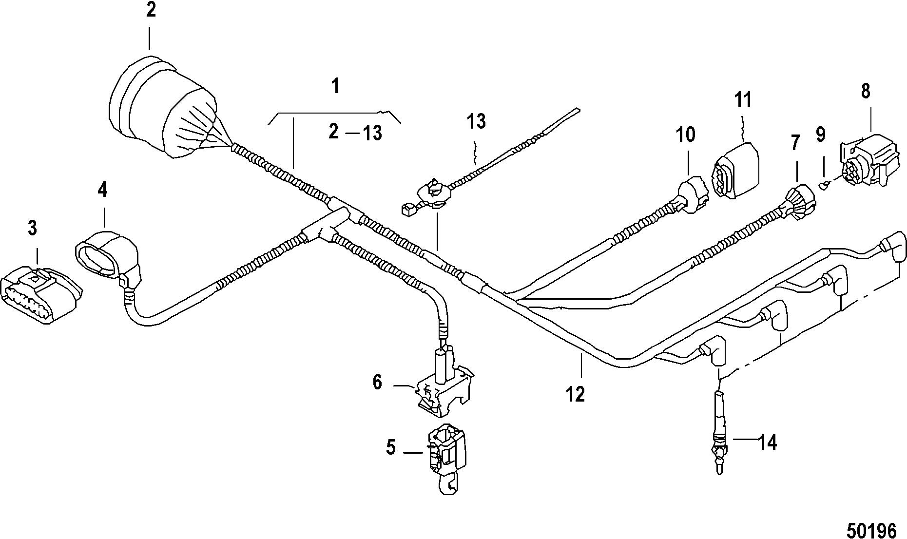 Mercury Verado Wiring Harness Mercury Auto Wiring Diagram