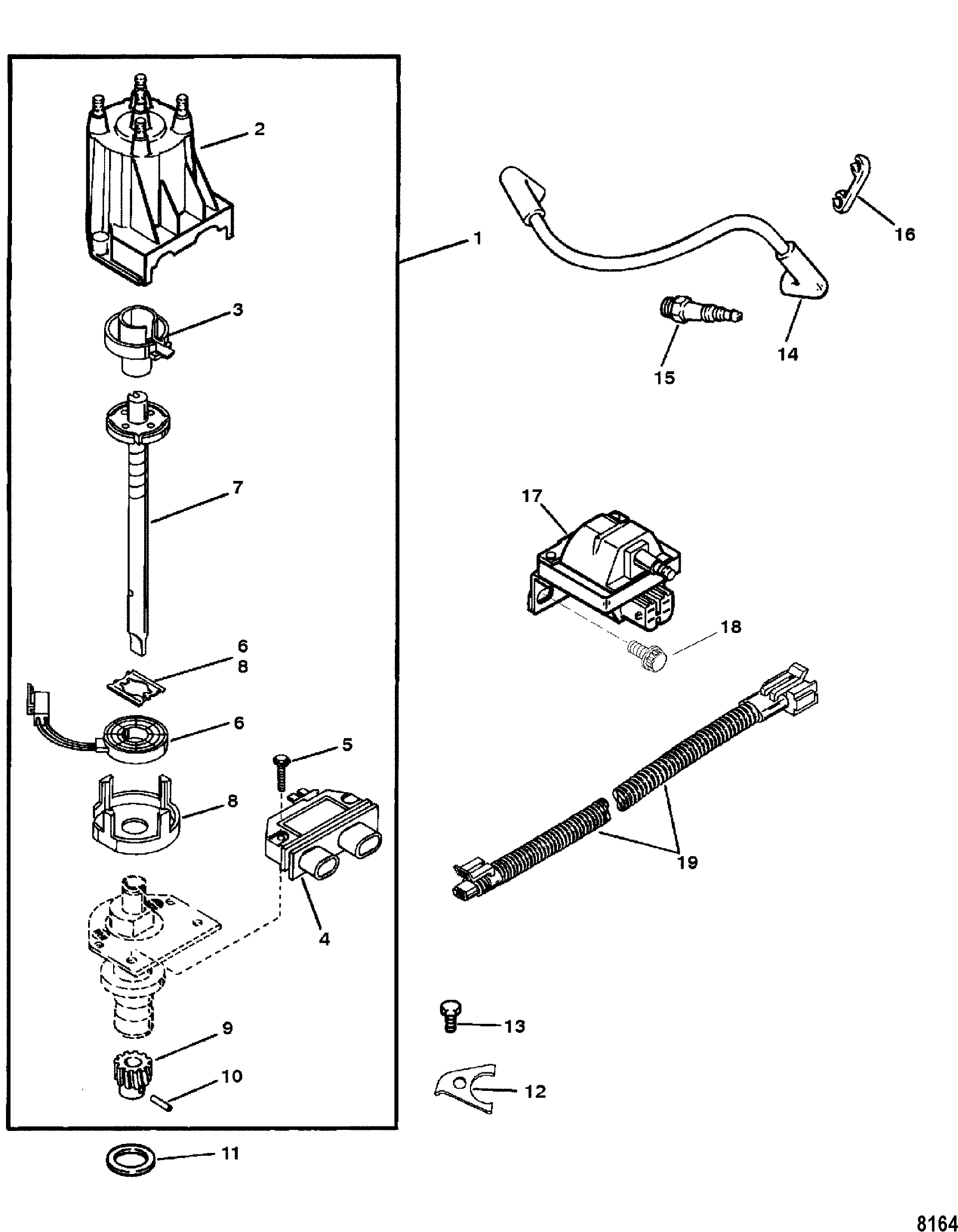 Ignition Wiring Diagram Gm Marine 181 Great Installation Of Painless Column Wiper Mercury Mercruiser 3 0l I L4 1a020544 Up Rh Vansoutboardparts Com Universal Switch Steering