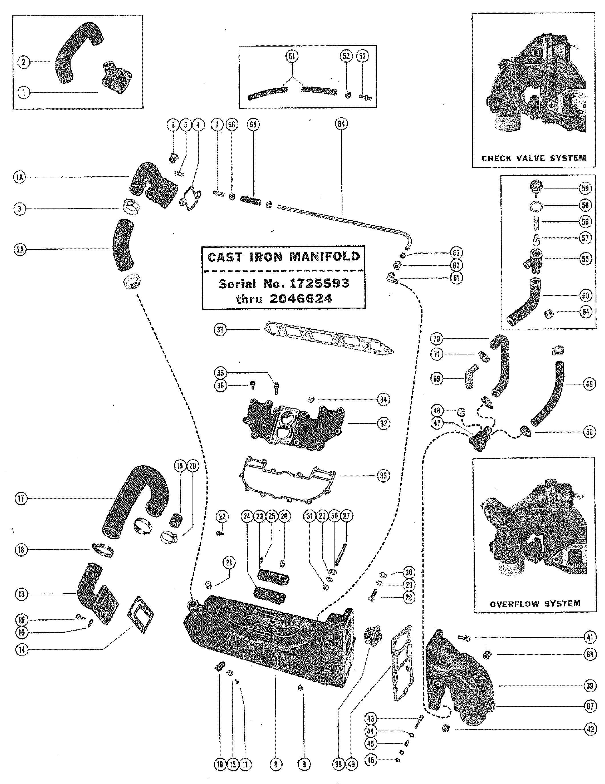 Diagram Mercruiser 120 Gm 153 I L4 1972
