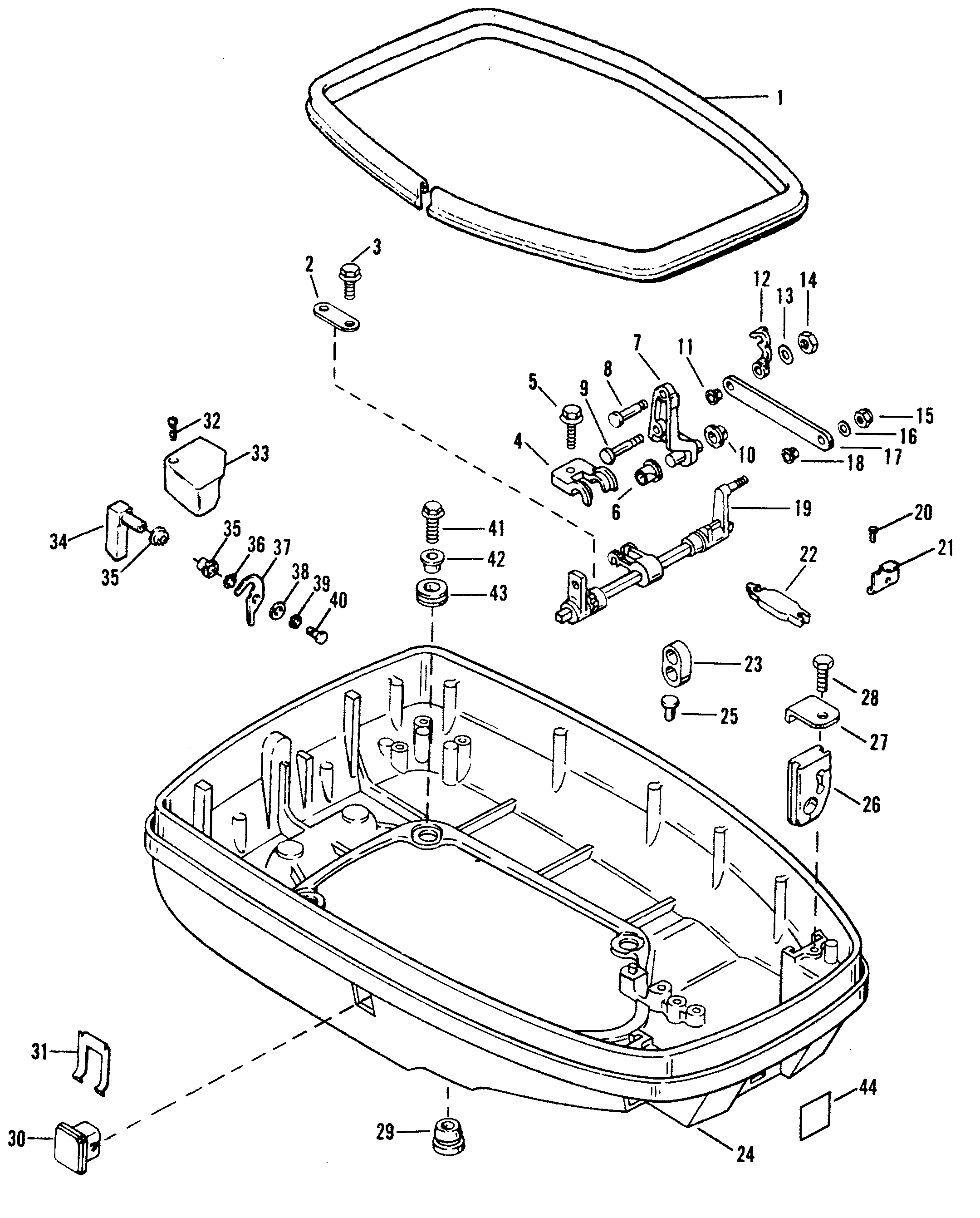 1995 40 Hp Mercury Outboard Schematic Trusted Schematics Diagram 115 Wiring Force H P 0e093700 Thru 0e138599 Bottom