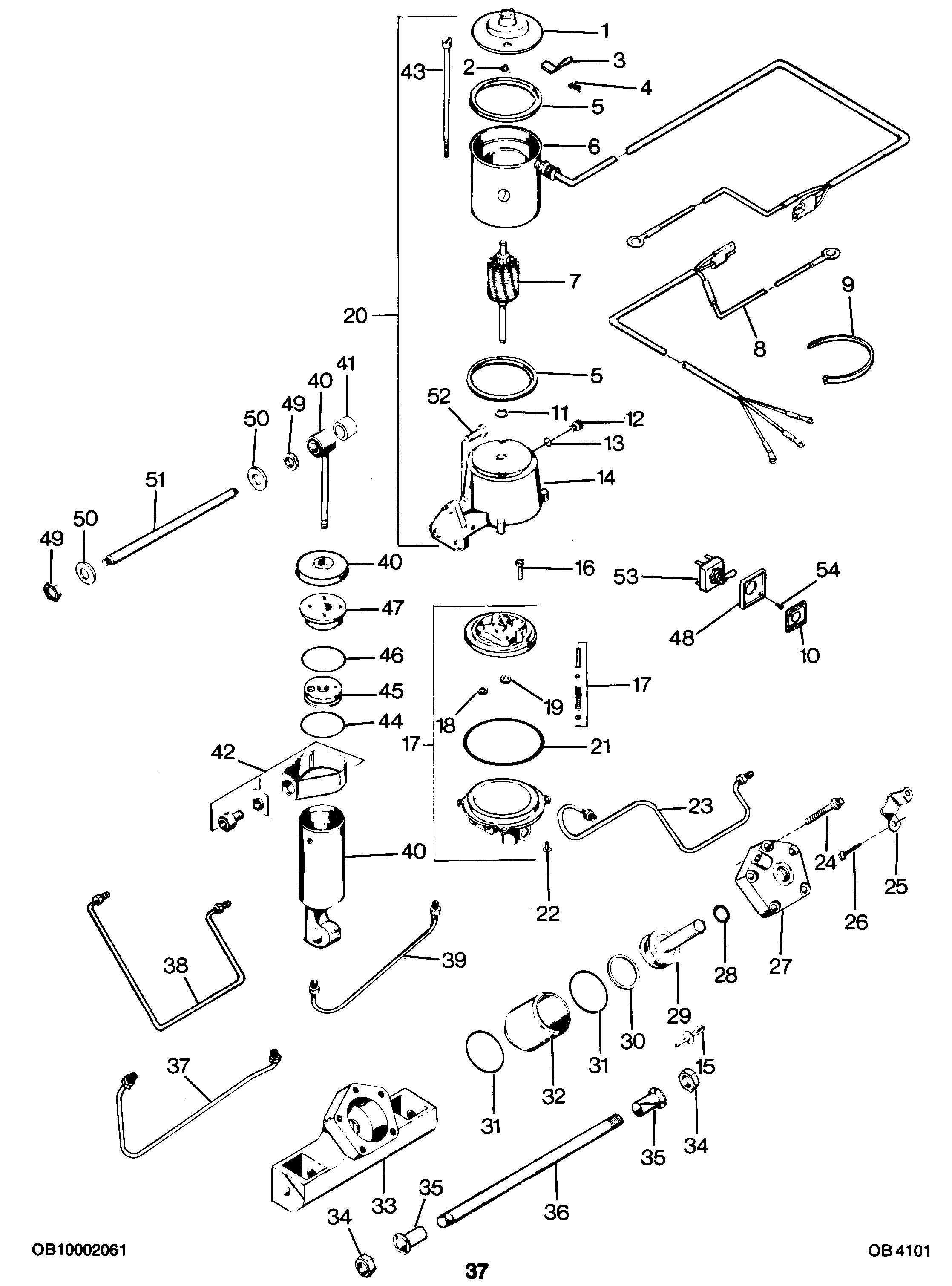 force outboard motor parts diagram