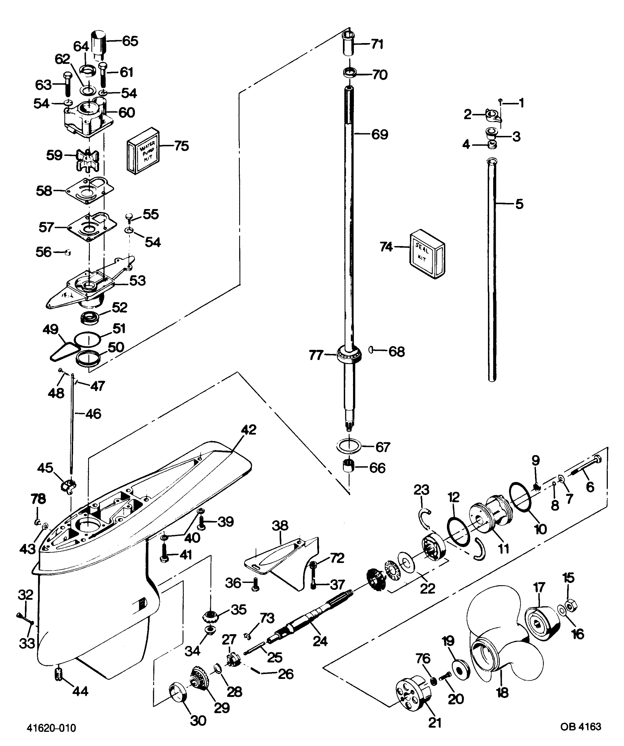 mercury force motor wiring diagram page 5 wiring diagram and hp piping diagram manual source · mercury force 125 h p 1987 1251x7b gear housing mercury rh vansoutboardparts com force 125 outboard motor
