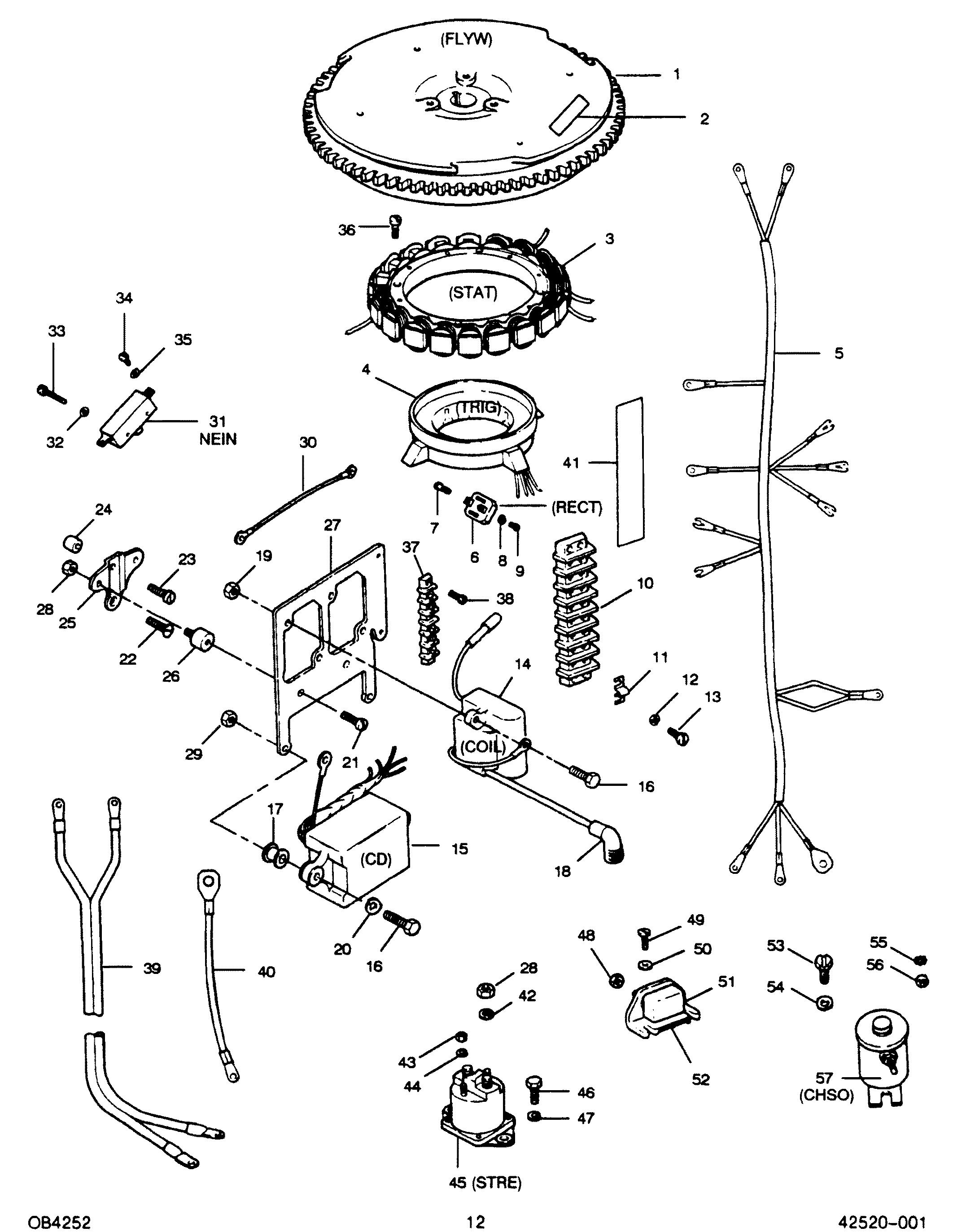 Mercury | FORCE | 50 H.P. (1988) | 507Y8D | ELECTRICAL COMPONENTS - Mercury  Outboard Motor Parts - Van's Sport CenterVan's Sport Center