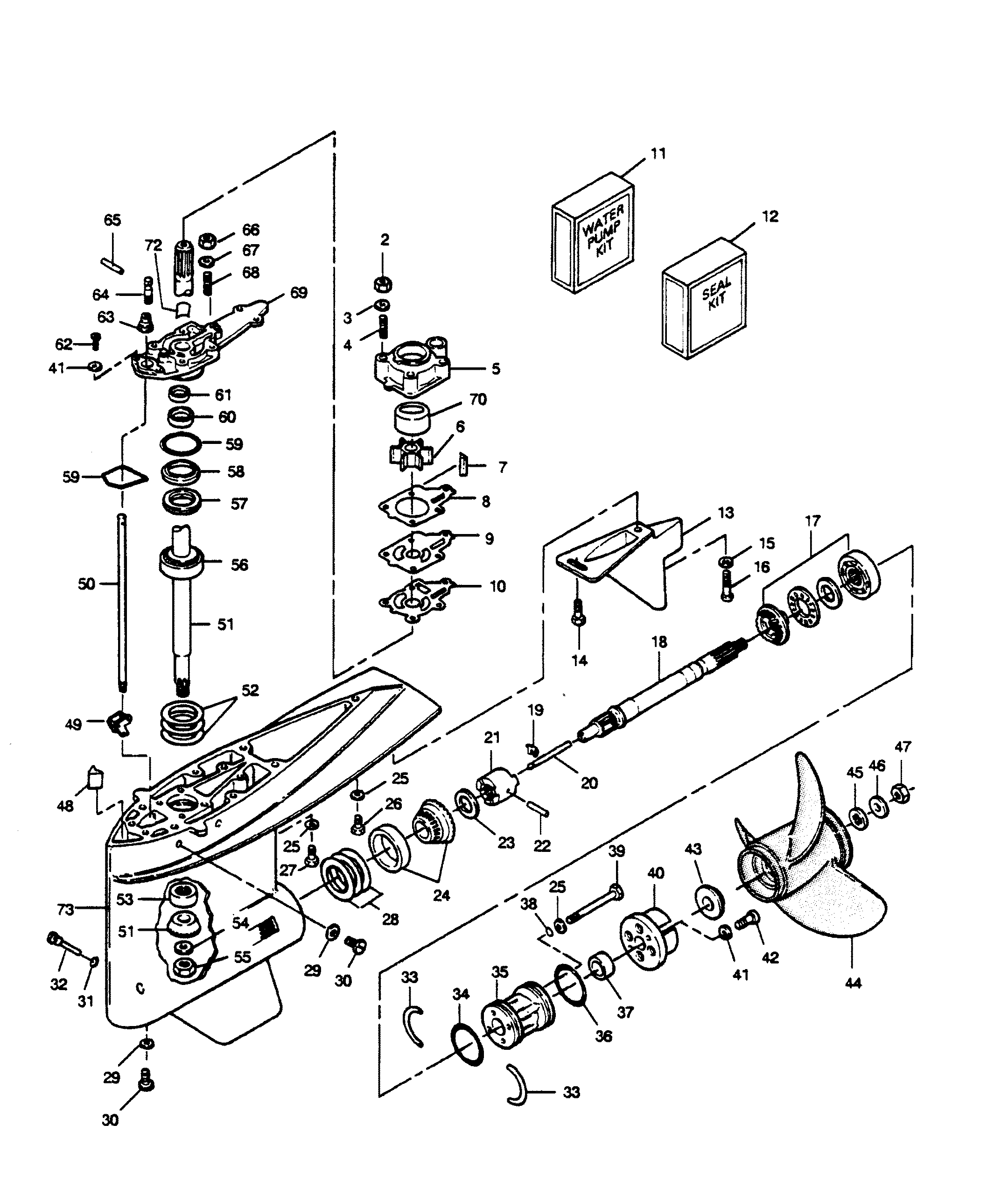85 hp force outboard wiring diagram mercury | force | 125 h.p. (1989 l-drive) | 125ld9b | gear ...