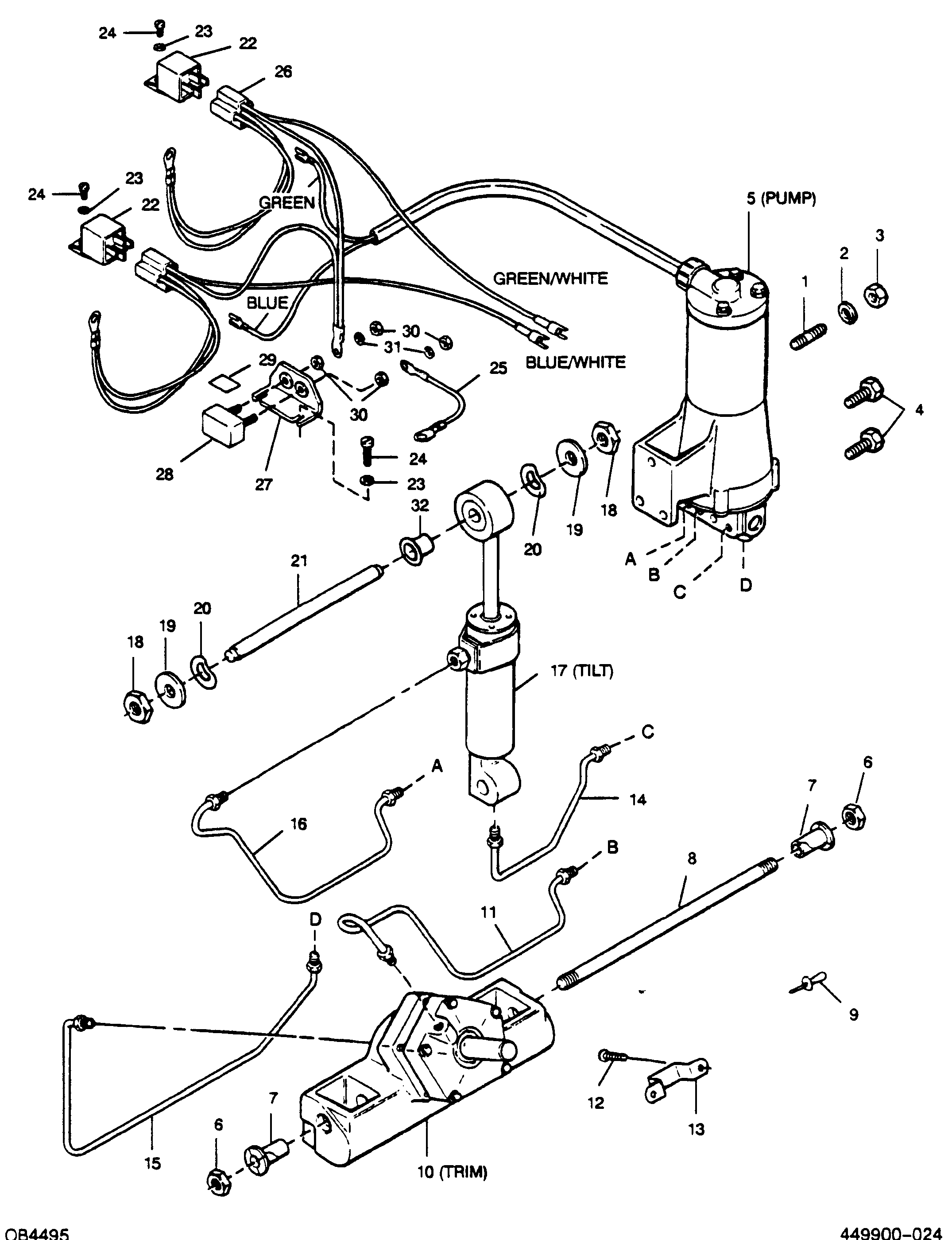 Mercury Marine 115 Hp 4 Cyl Gear Housing Driveshaft Parts Manual Guide