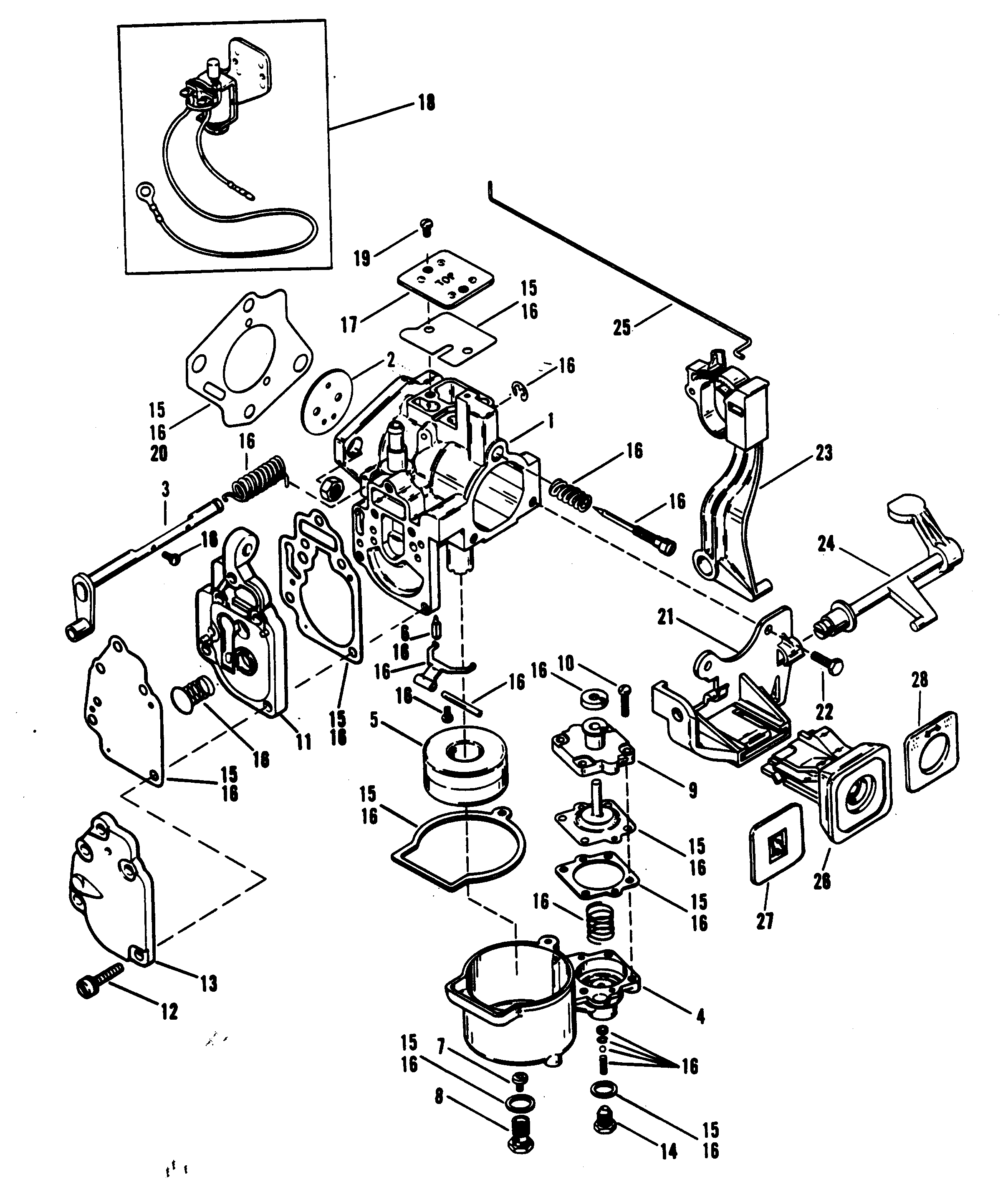 Mercury Outboard Motor Parts Diagram on 15 hp johnson outboard motor carburetor