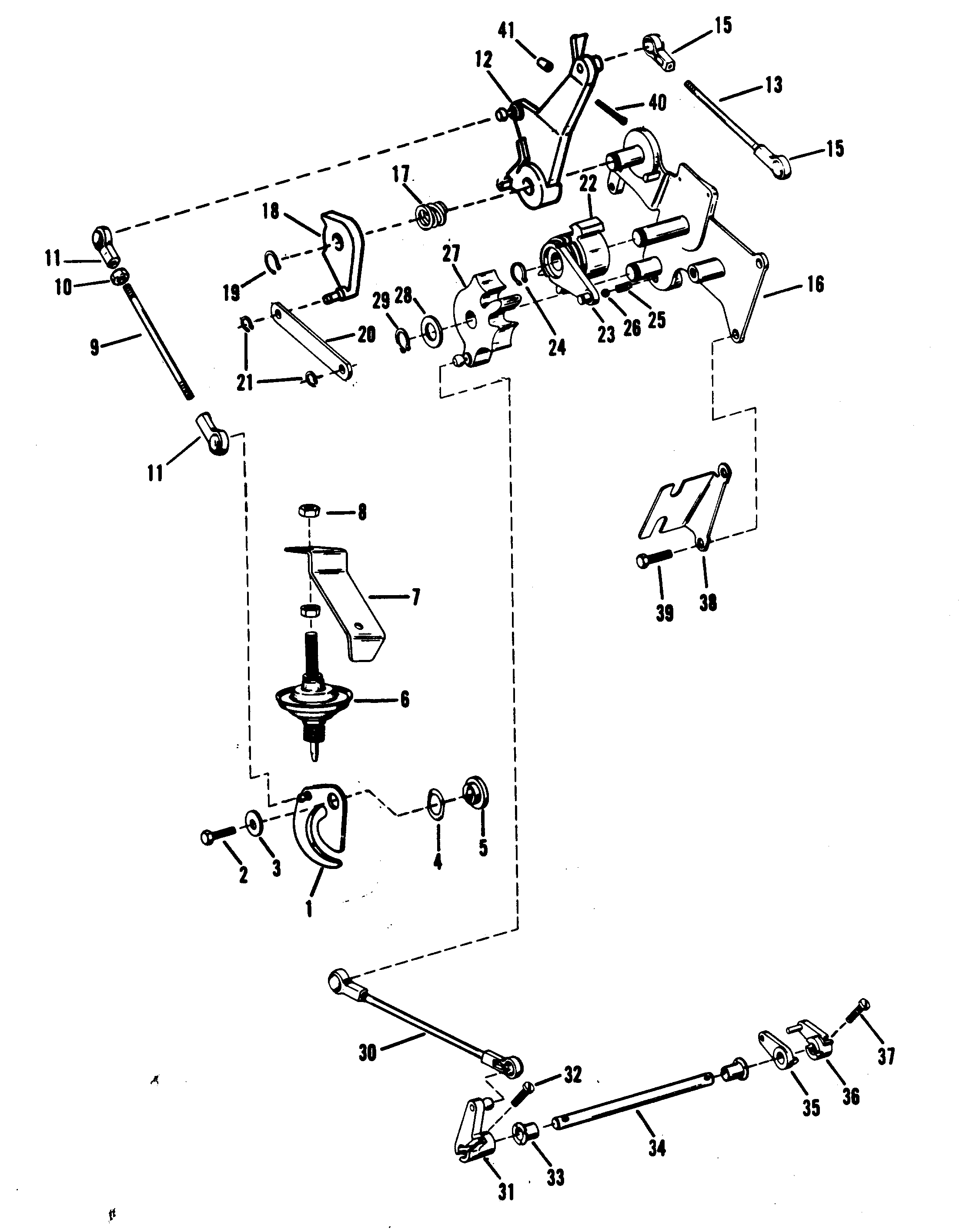 mercury 25xd wiring diagram 1970 mercury montego wiring diagram mercury   mercury   25xd   9415101 thru 9507380   throttle ...