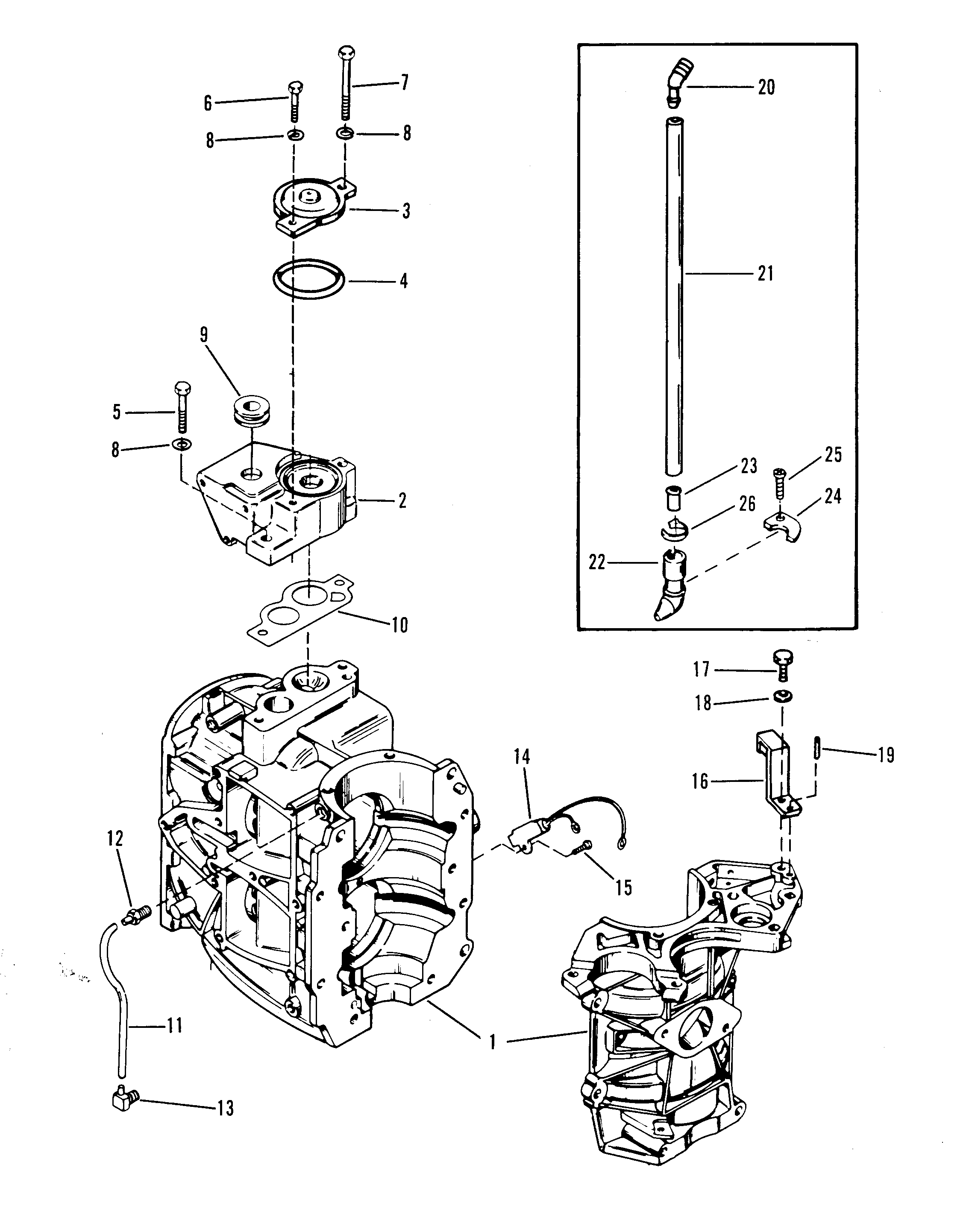 Mercury 35 9466647 And Up Cylinder Block Parts Diagram Thermostat Engine Car Component