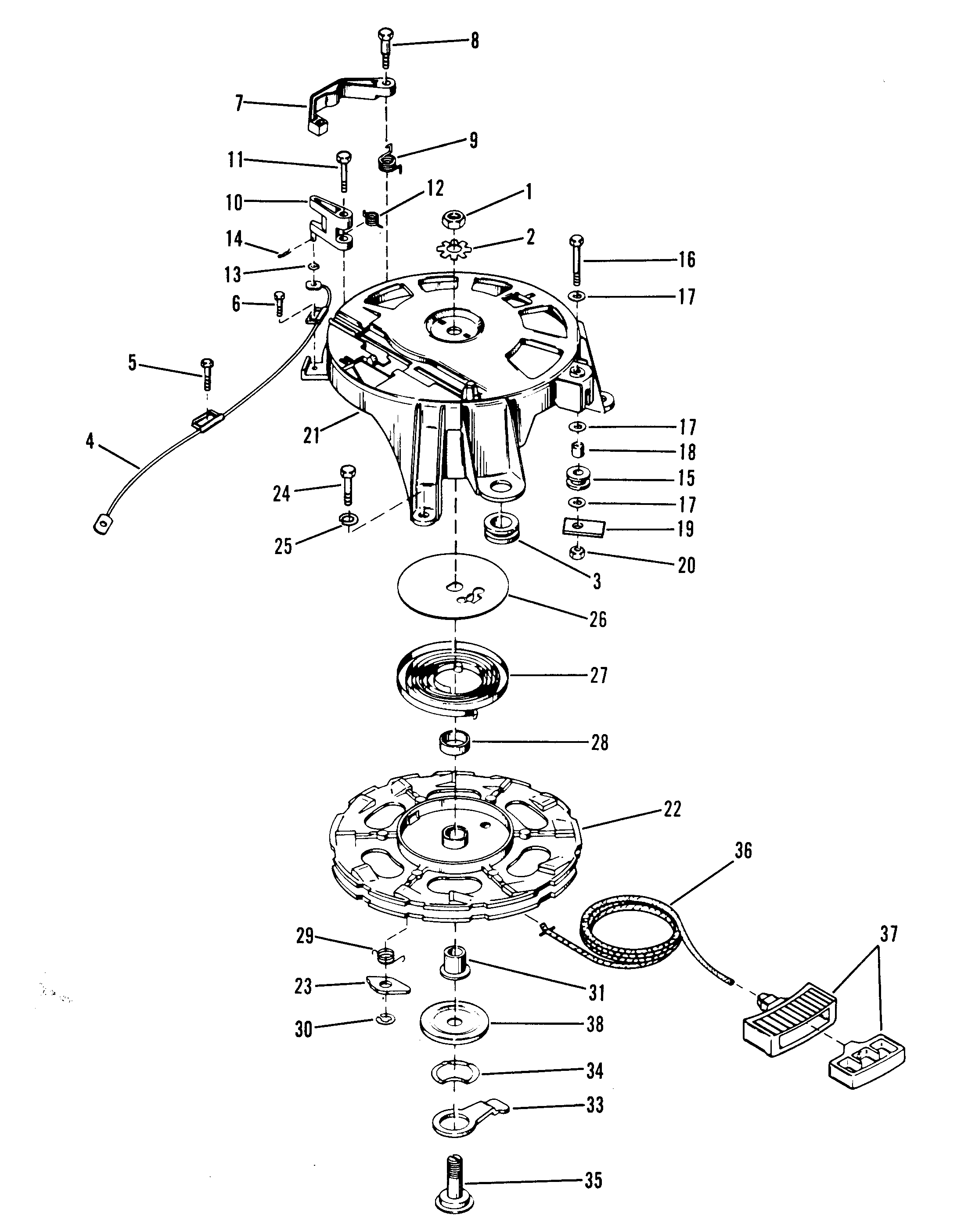 Mercury 9 8 7127388 Up Electric Components Outboard Stroke209cc 0r042475 Carburetor Diagram And 35 0b110789 Starter Rewind