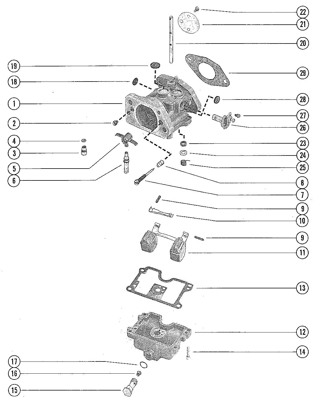 Mercury | MERCURY | 850 (4 CYL.) | 9110014 THRU 9177625 | CARBURETOR  ASSEMBLY