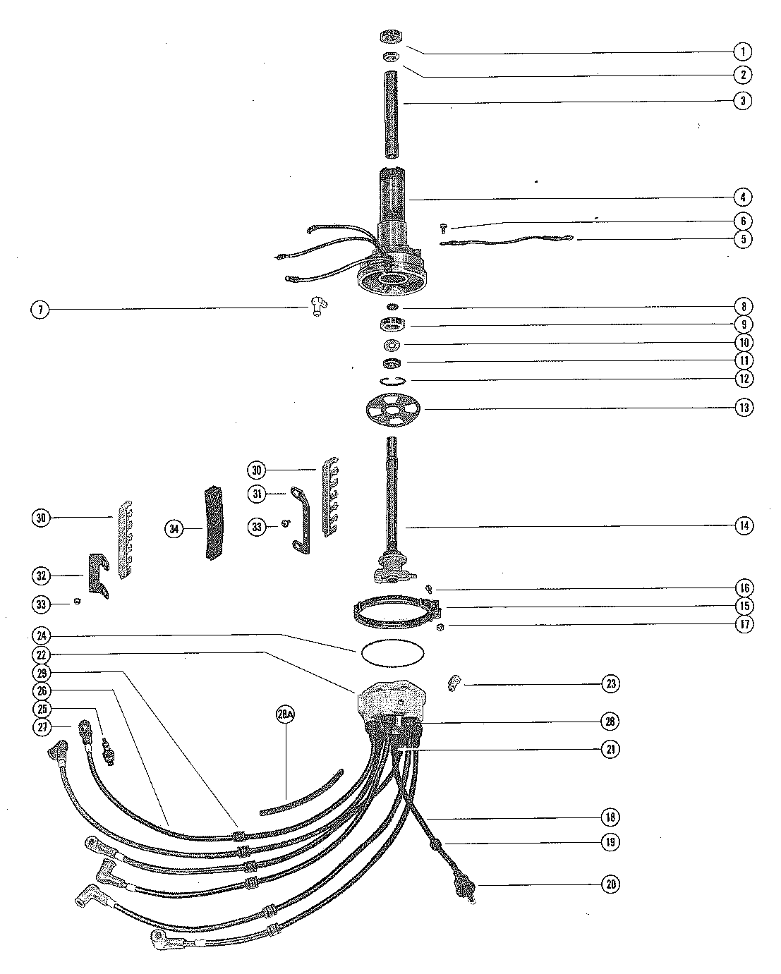 mercury mercury 1150 115 4855153 thru 5314655 distributor rh vansoutboardparts com 1978 mercury 1150 wiring diagram 1978 Mercury 115 Wiring Diagram