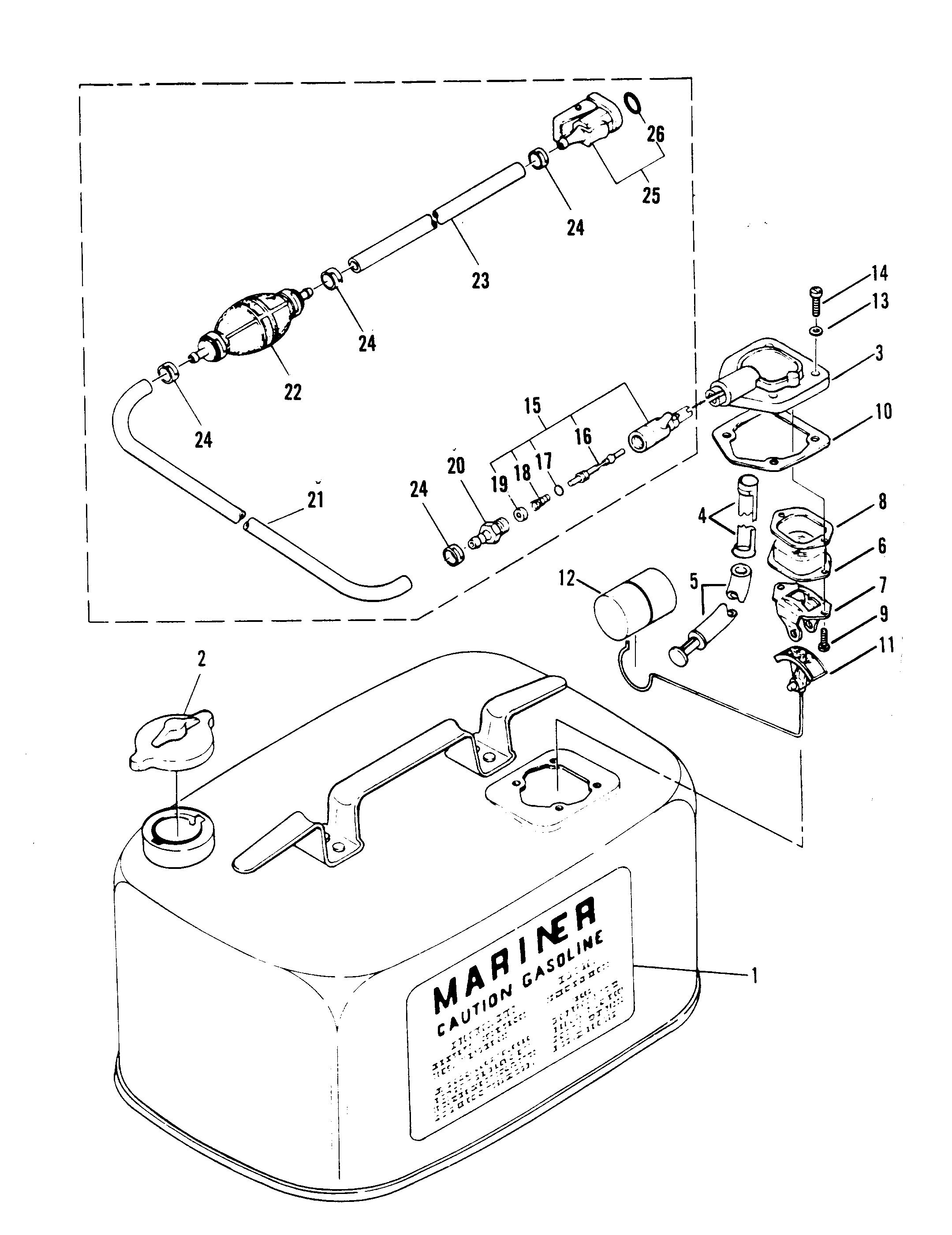 "FUEL LINE HOSE ENGINE CONNECTOR 22-14213Q OUTBOARDS MERCURY MARINER YAMAHA 1//4/"""