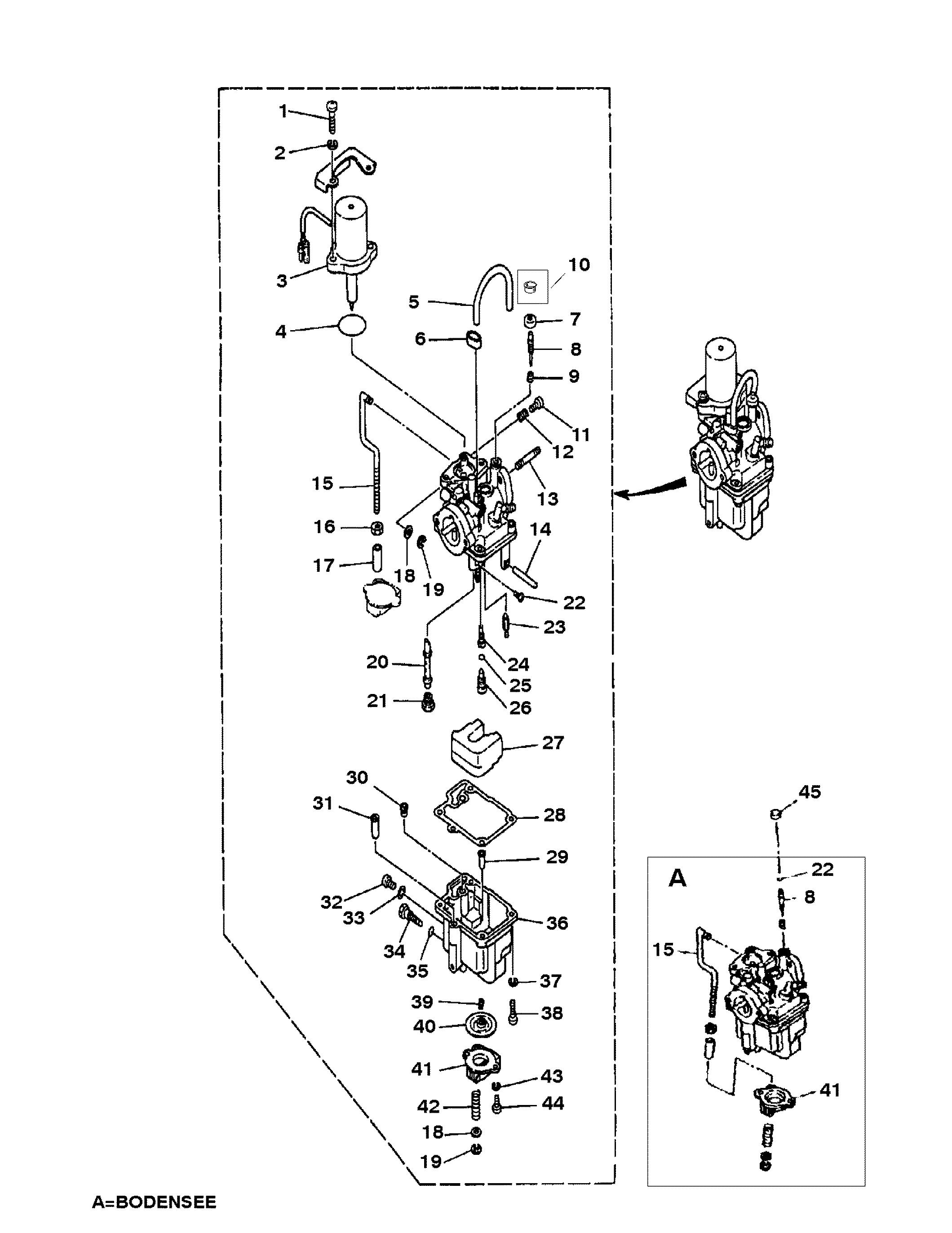 Yamaha Hp Outboard Carburetor Sh