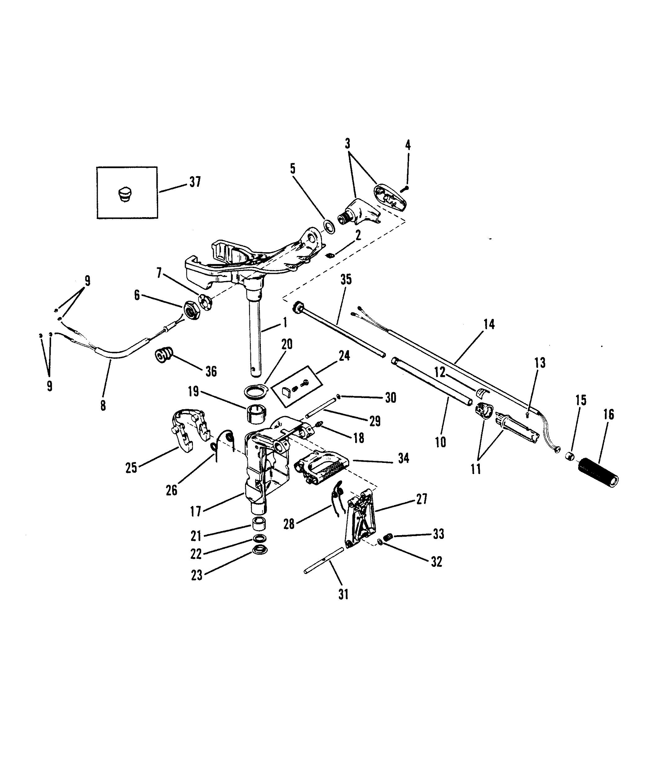 MARINER SWIVEL BRACKET BOLT  10-94572M