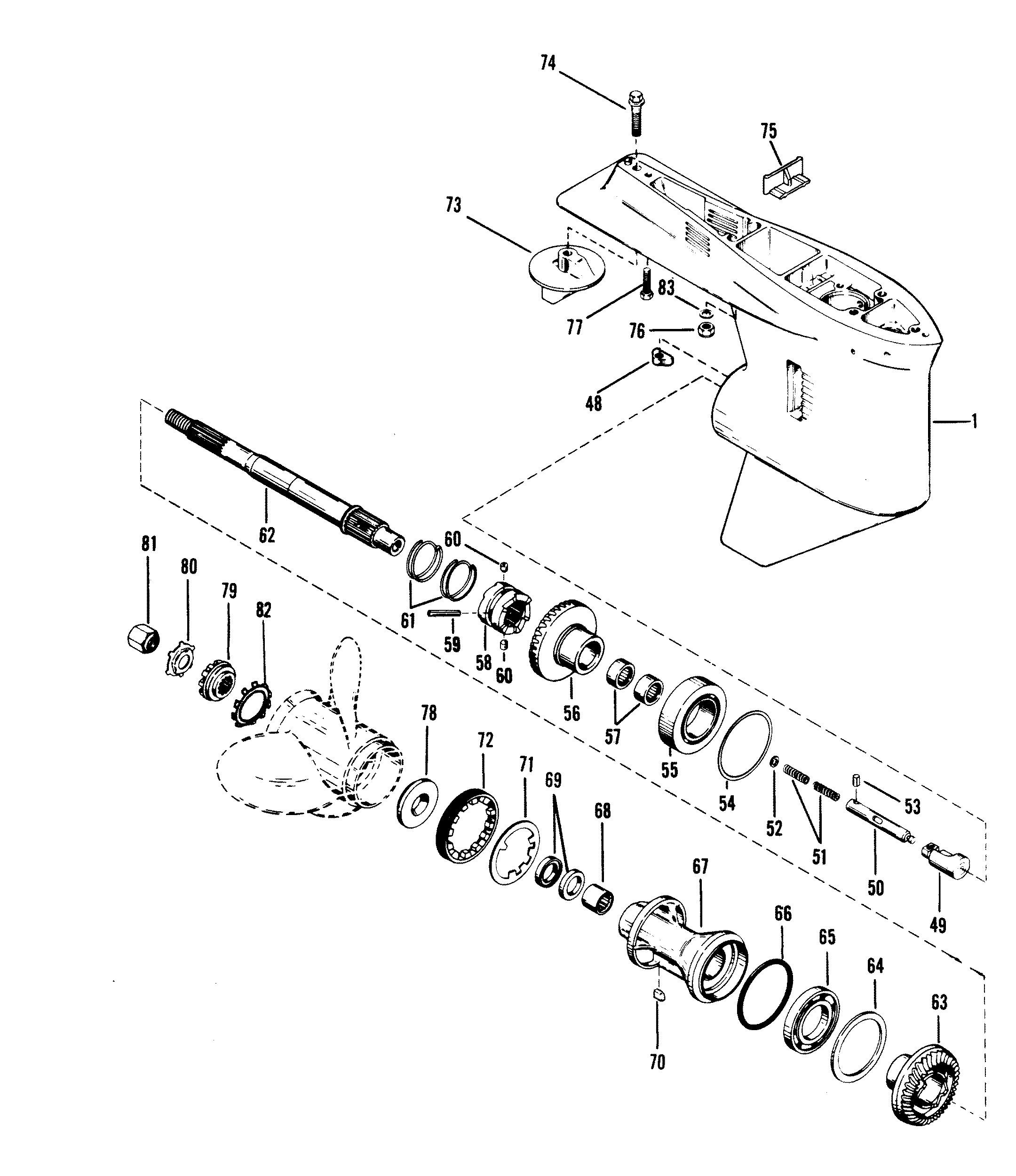 Mercury | MARINER | V-175 | 0C100861 THRU 0C239552 | GEAR